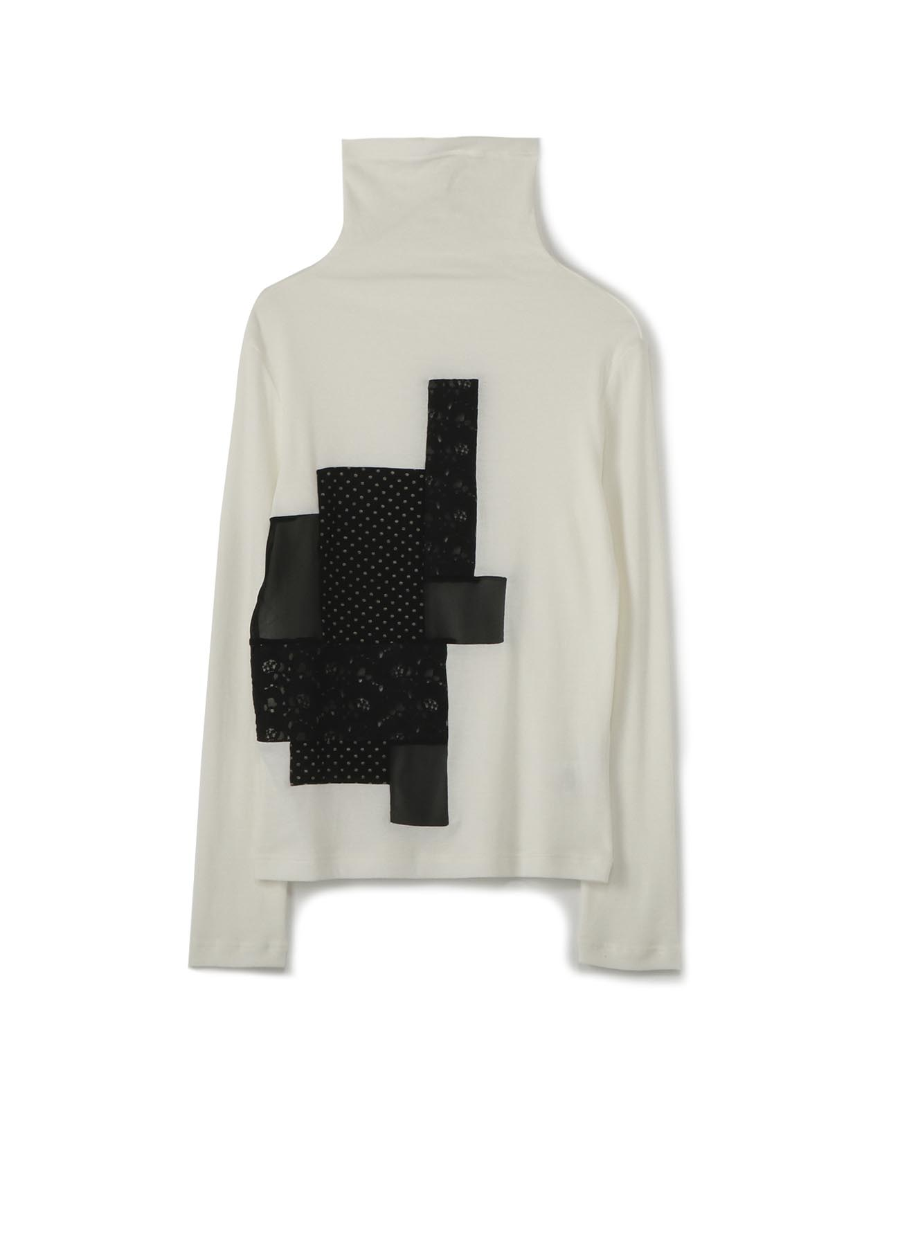 MILANORIB x PATCHWORK HIGHT-NECKED COLLAR T-SHIRT
