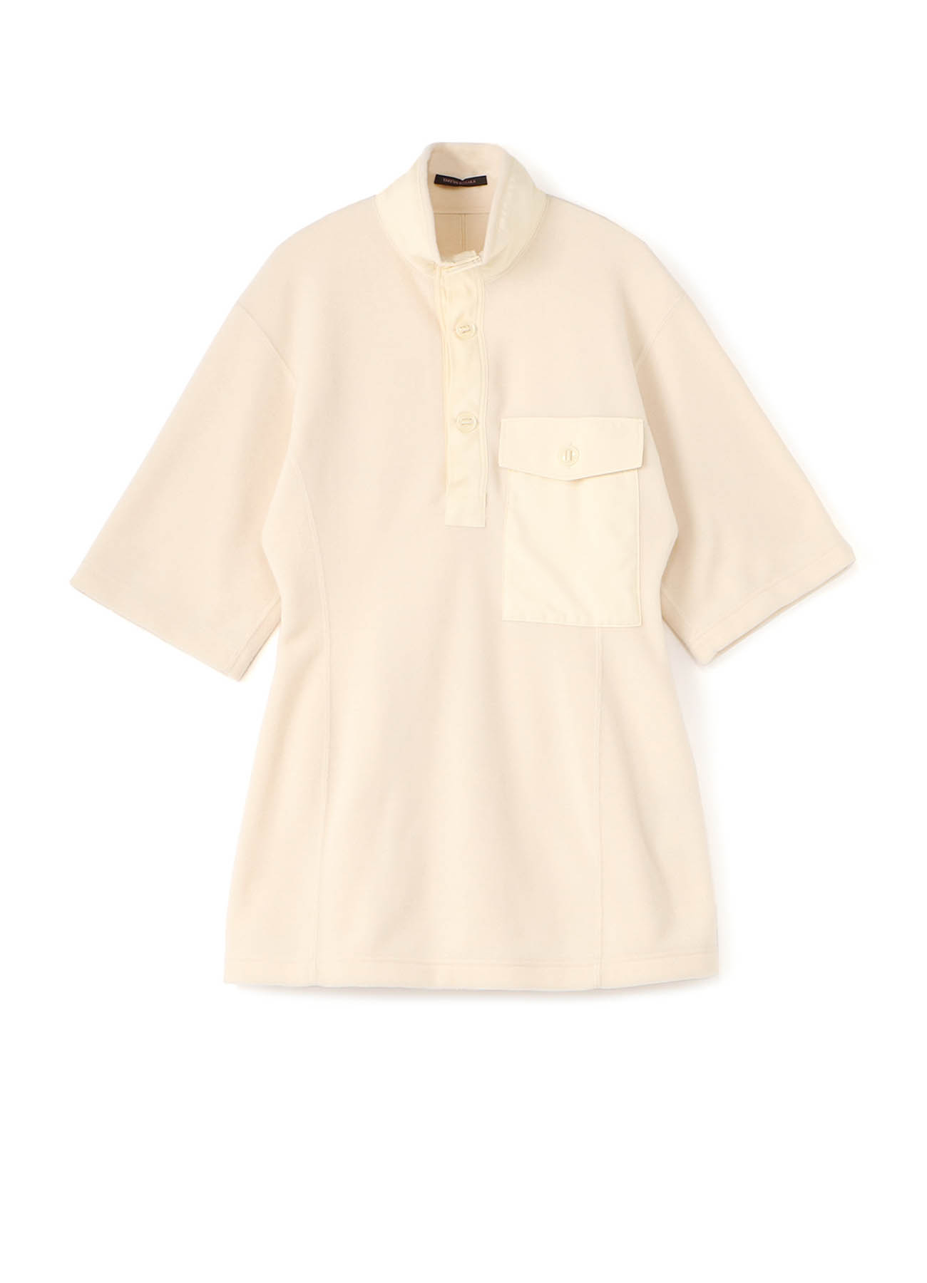 Y'sPINK TOSCANA FLEECE HIGHT-NECKED COLLAR POLO SHIRT