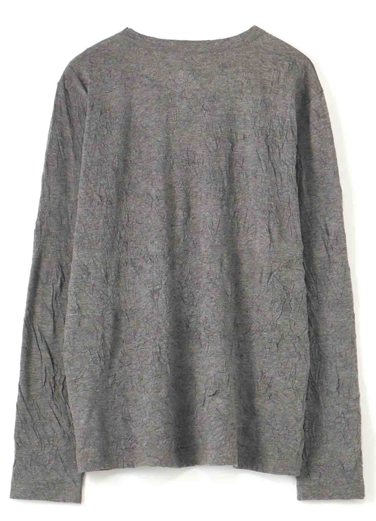 Gipsy COTTON POLYESTER WRINKLE LONG SLEEVE T-SHIRT