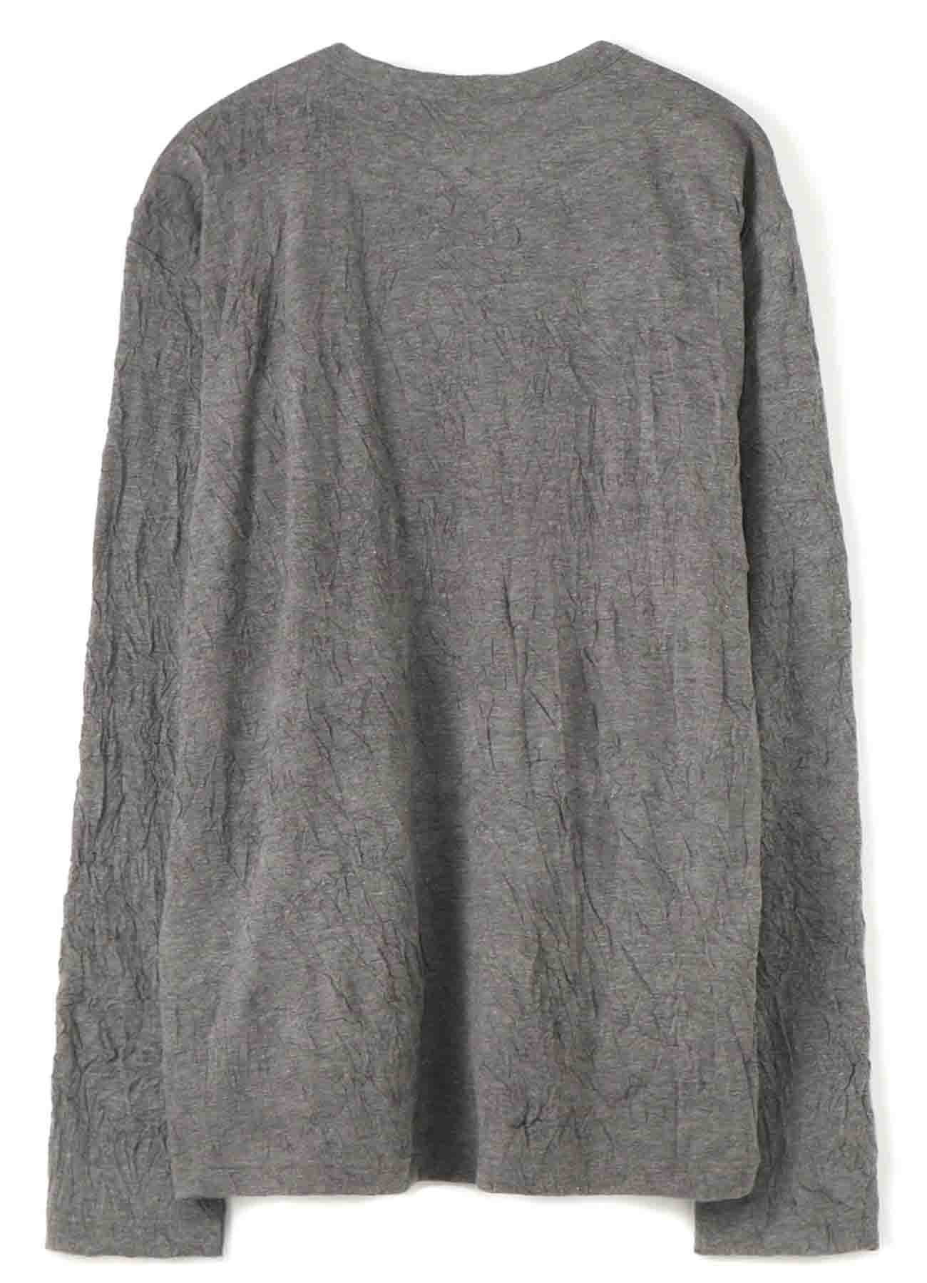 Gipsy COTTON POLYESTER WRINKLE LONG SLEEVE BIG T-SHIRT