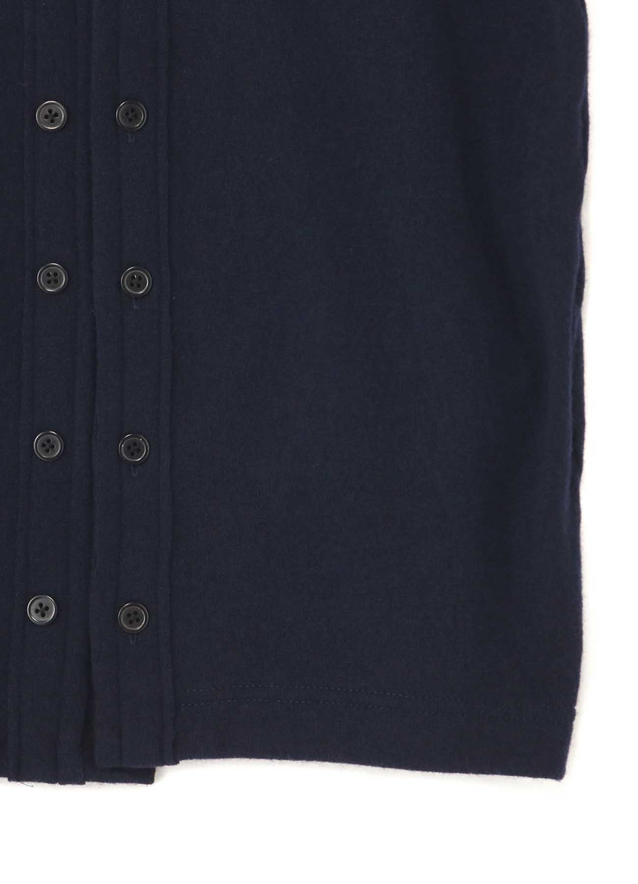 WOOL NYLON 16 BUTTON FRONT OPEN CARDIGAN