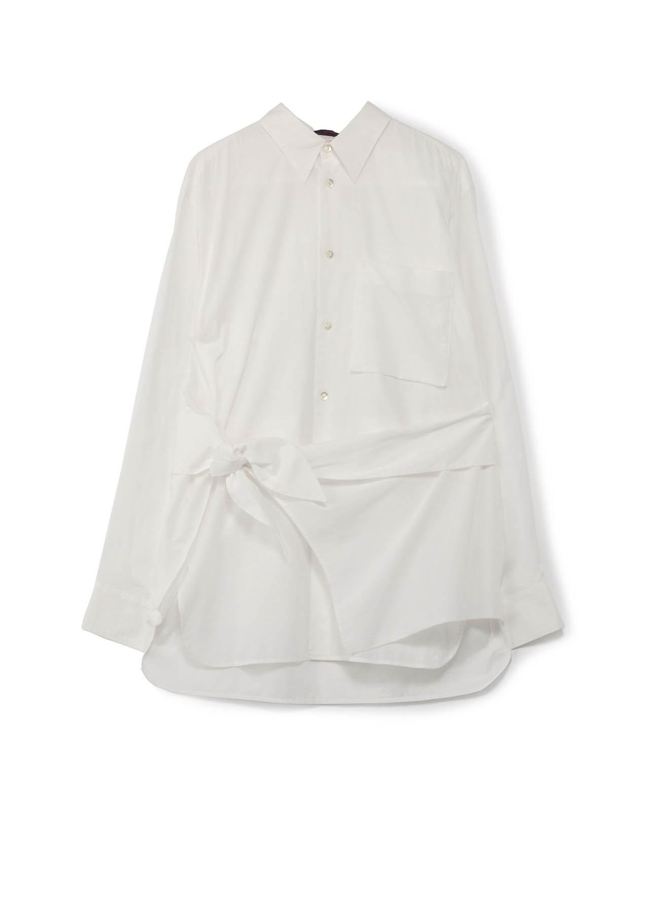 コットンローン 巻き布シャツ