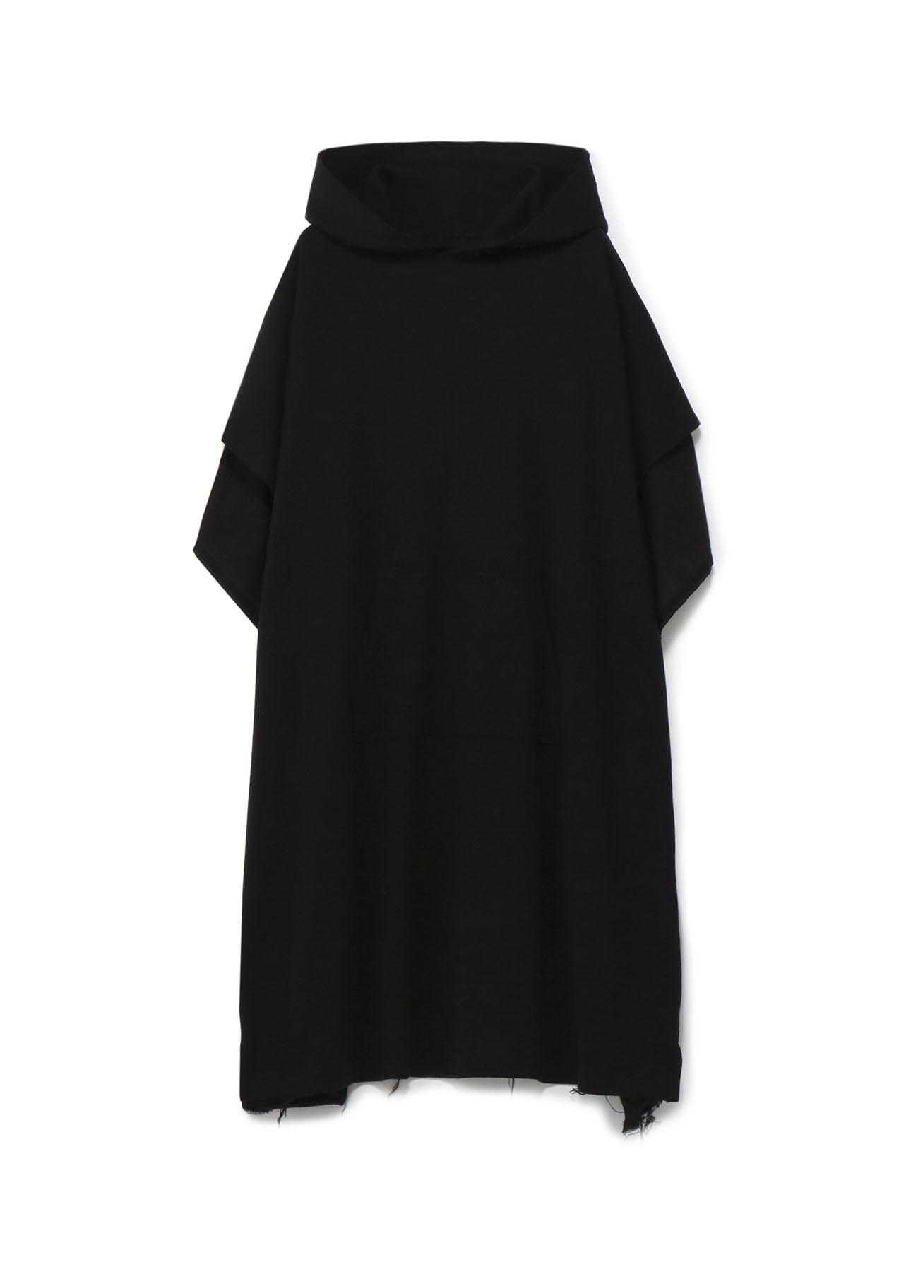柔棉拼接带帽连衣裙