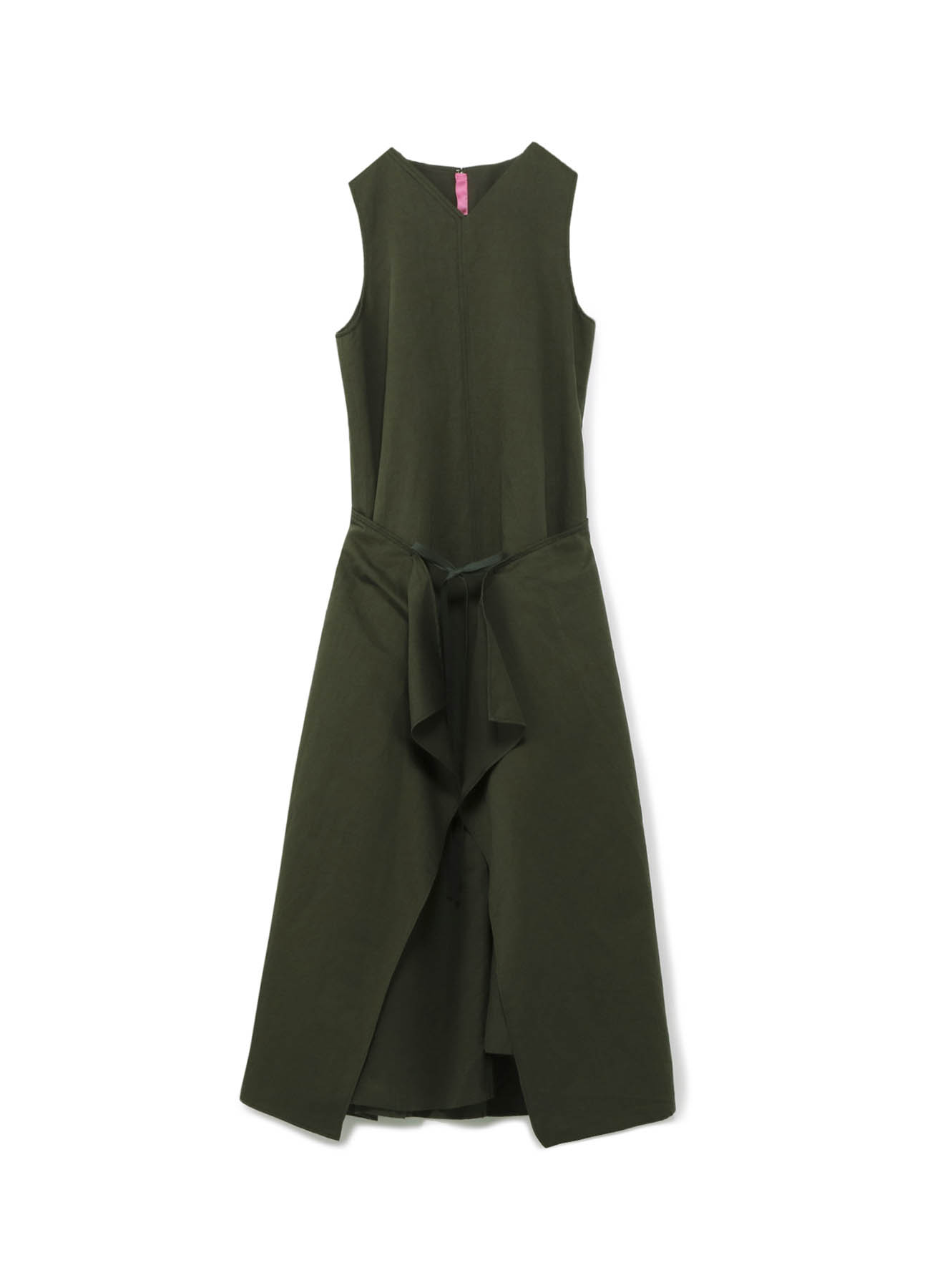 リネンコットンツイル 巻き布ドレス