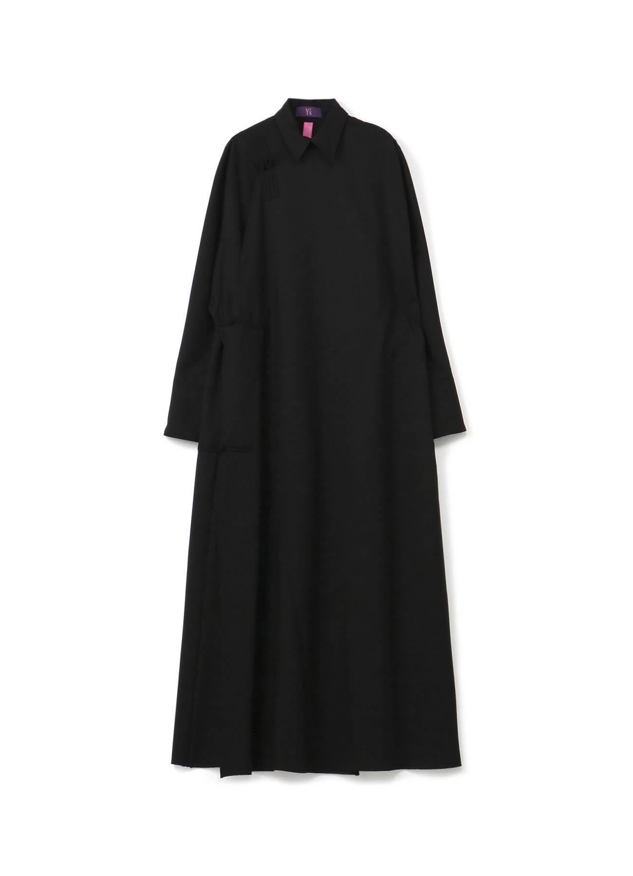 Y'sPINK ウールポリエステルトロピカル 釈迦釦ドレス