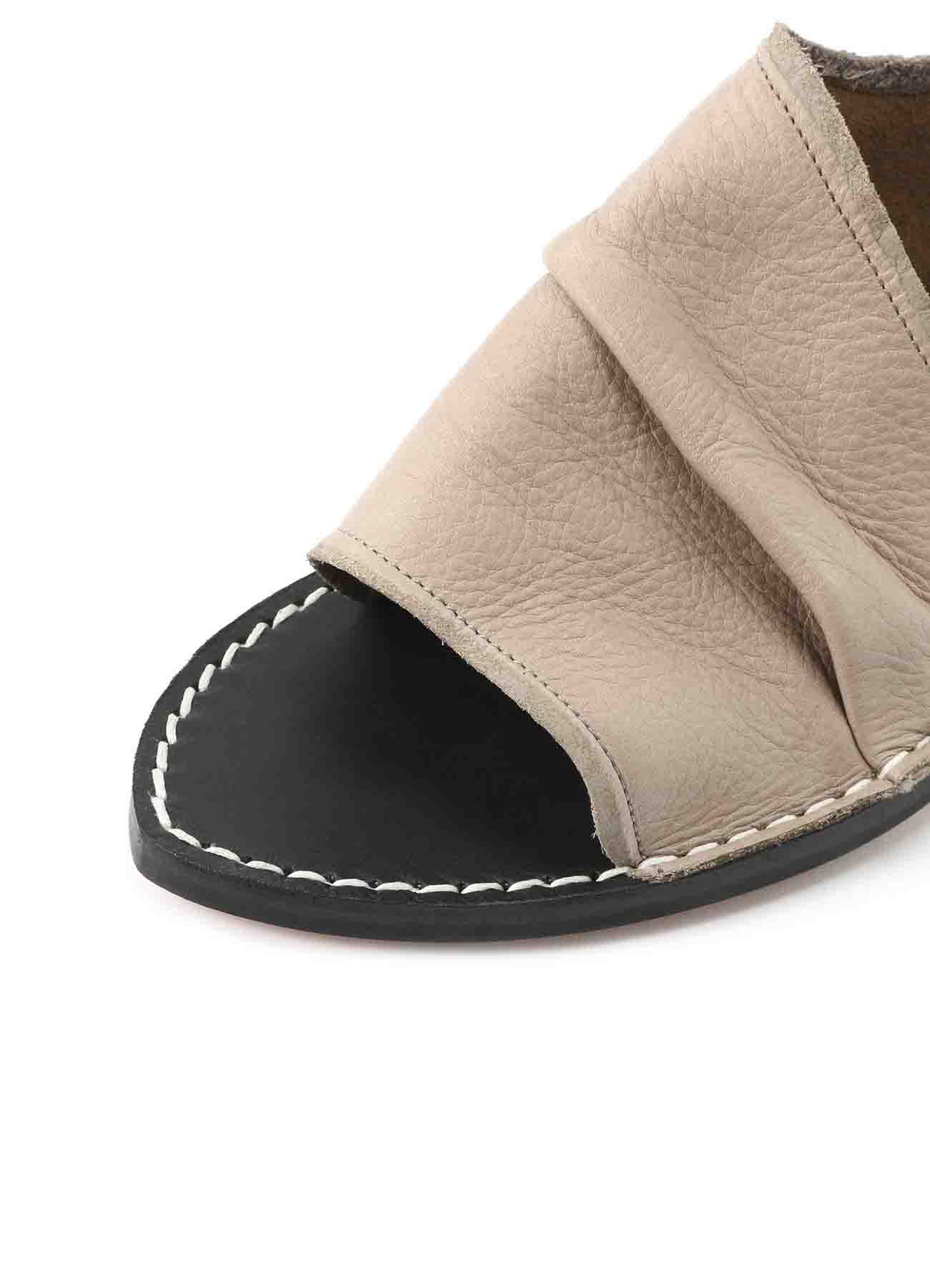 ソフトレザー 裁ち切り短靴