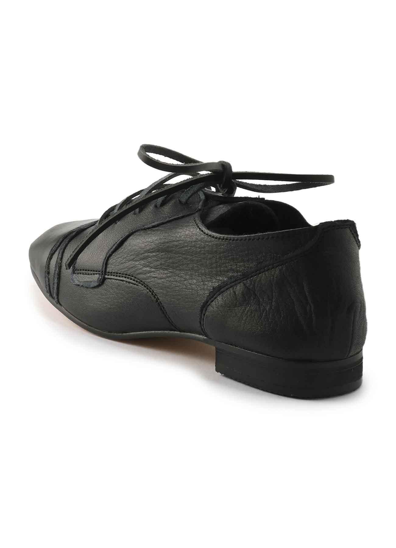 ソフトレザー裁ち切り短靴