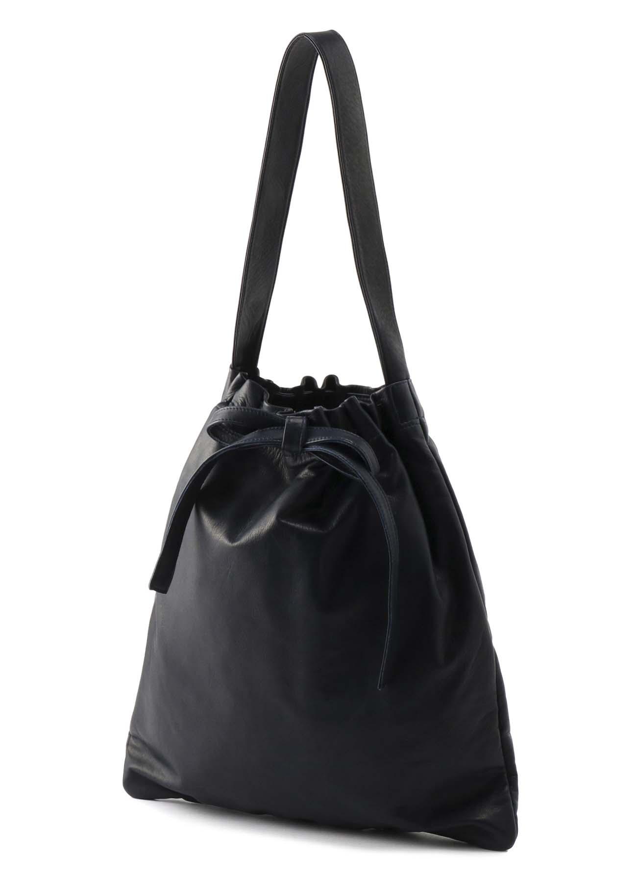 シャイニングレザー 絞りトートバッグ