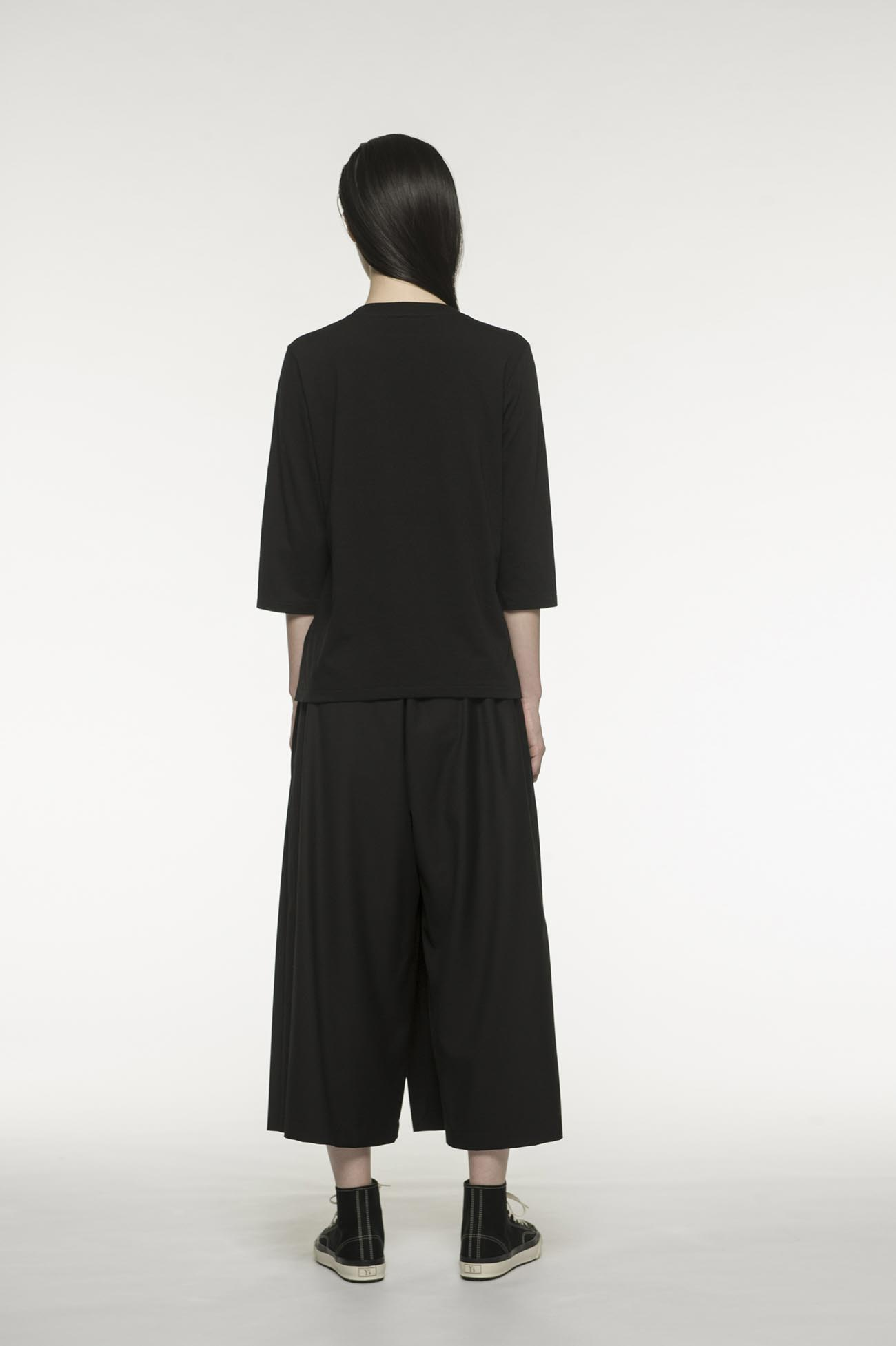 RISMATby Y's棉质面料3/4袖T恤,搭配商场针织