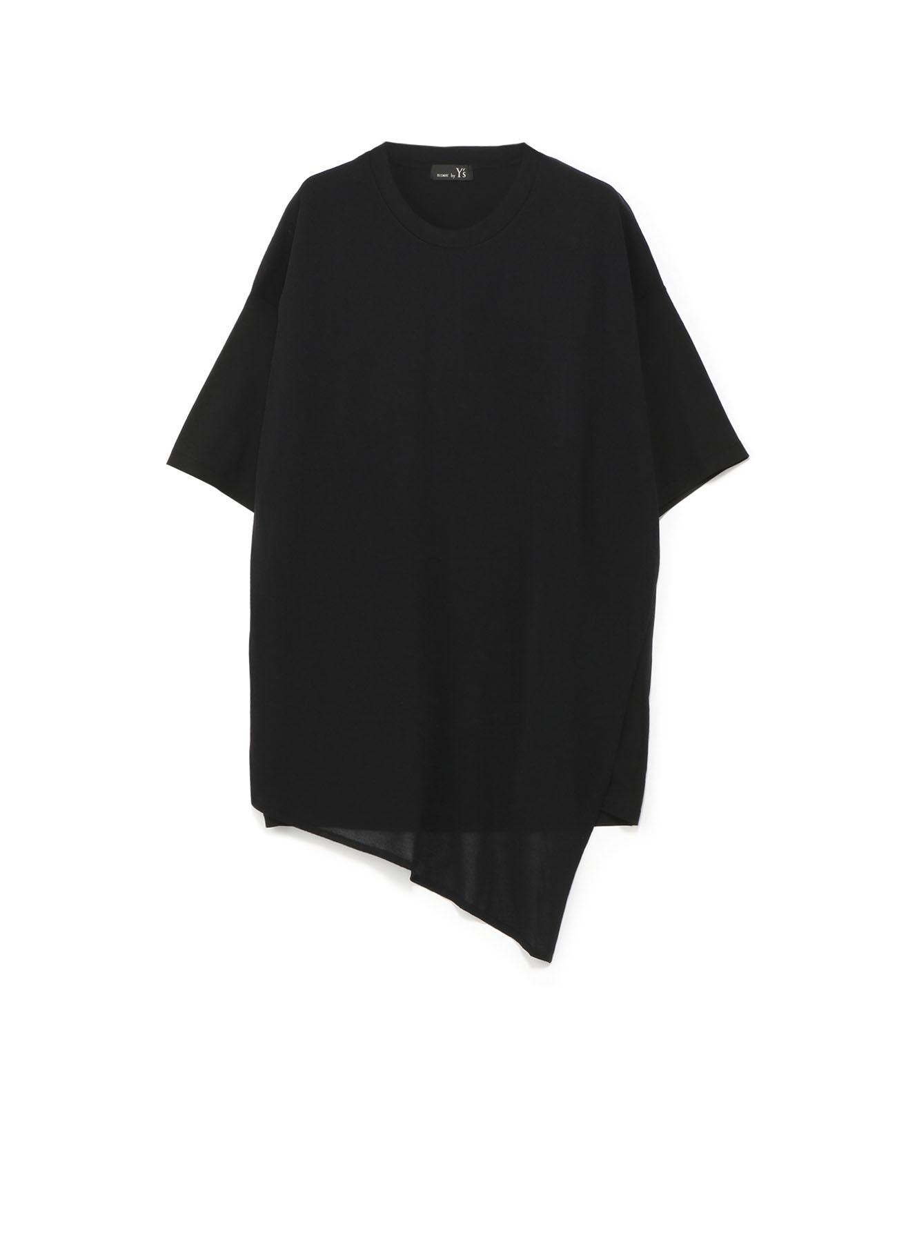 RISMATbyY's 強撚度詰天竺 斜めニット付半袖ビッグTシャツ