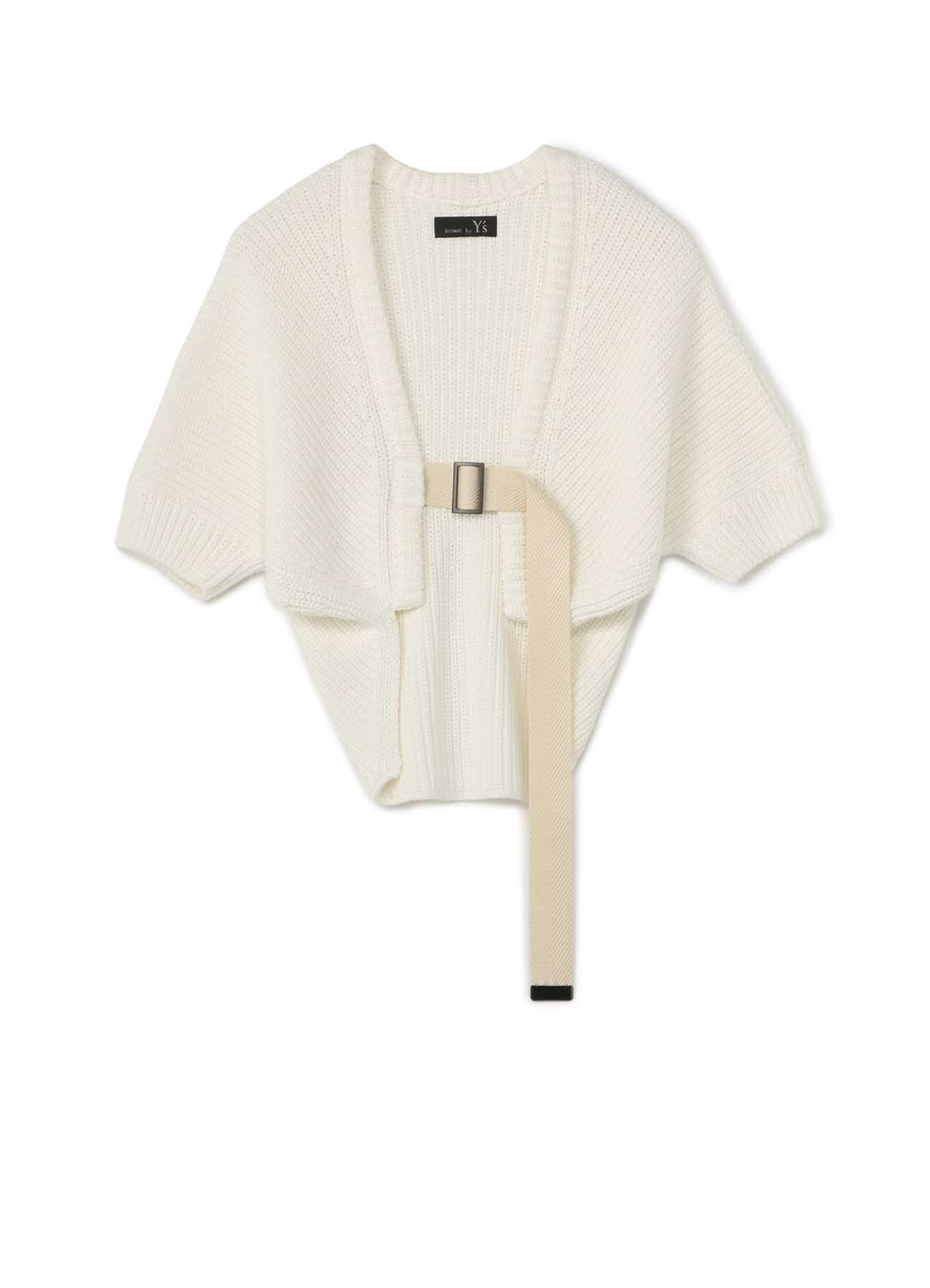 RISMATbyY的棉质单排编织皮带腰带短袖haori