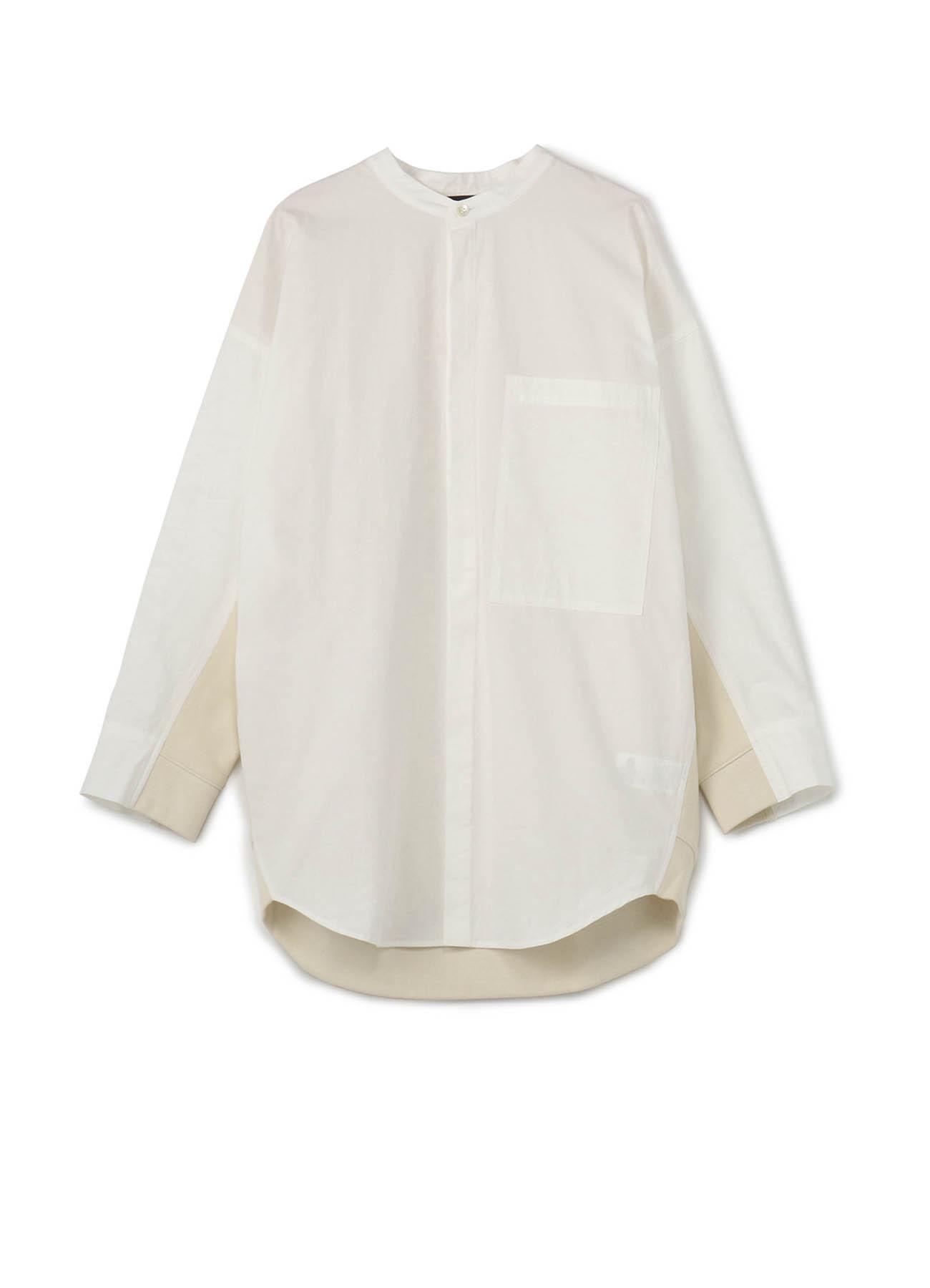 RISMATbyY's 拼接无领宽松衬衫