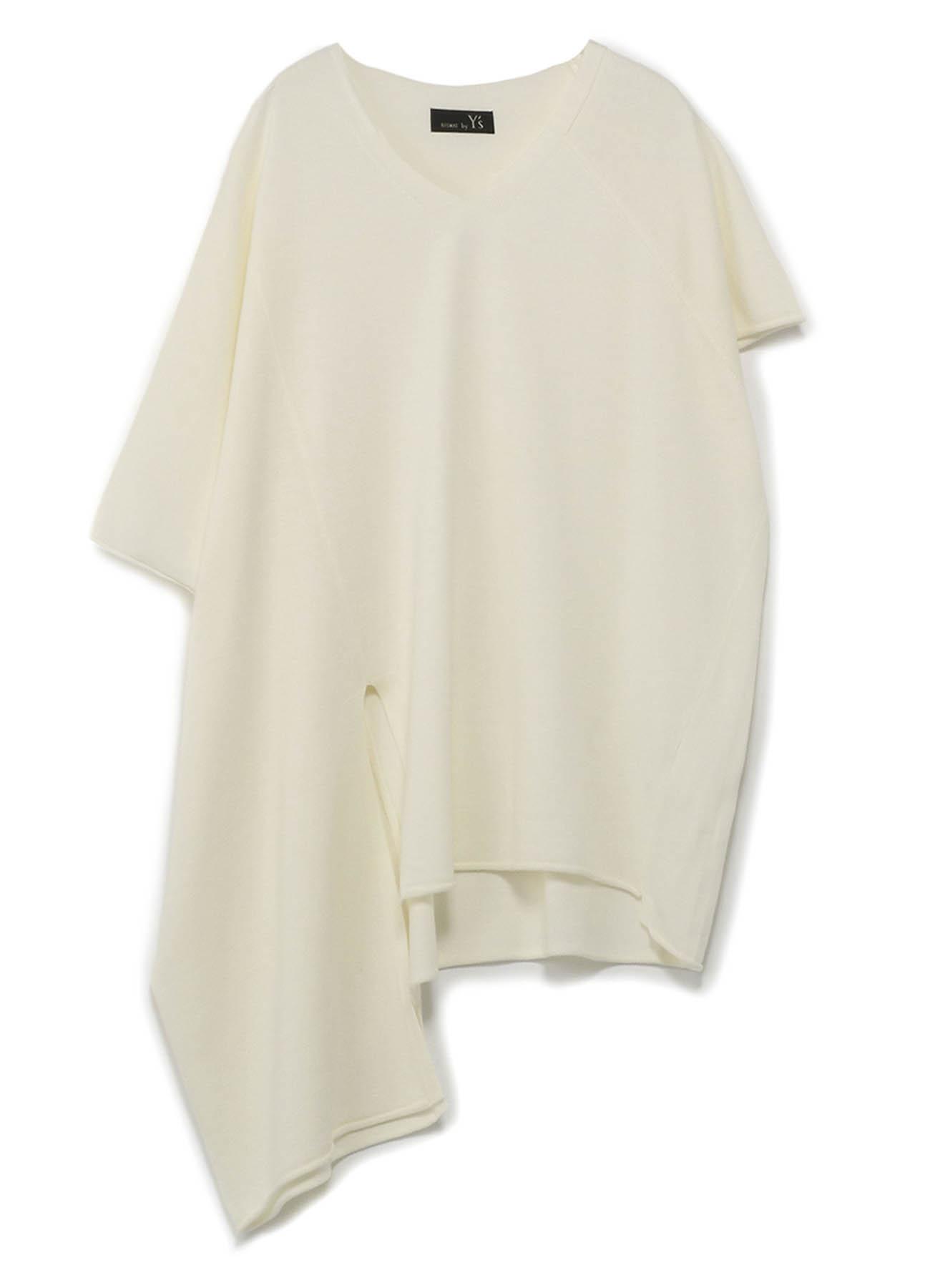 RISMATby Y's丙烯酸棉度Amatenji不对称针织T恤