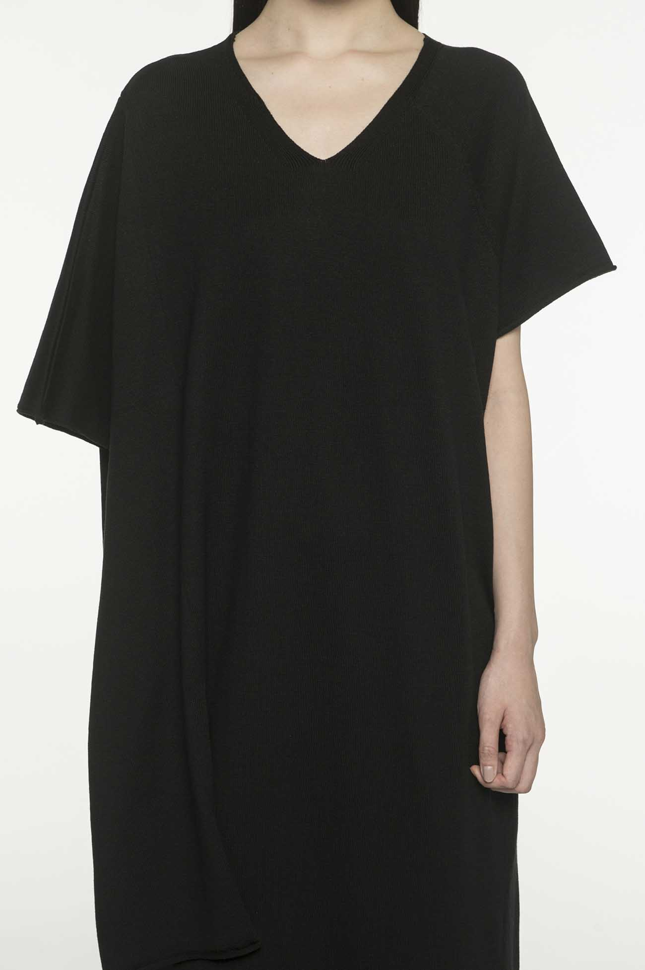 RISMATby Y's丙烯酸棉度Amatenji不对称针织连衣裙