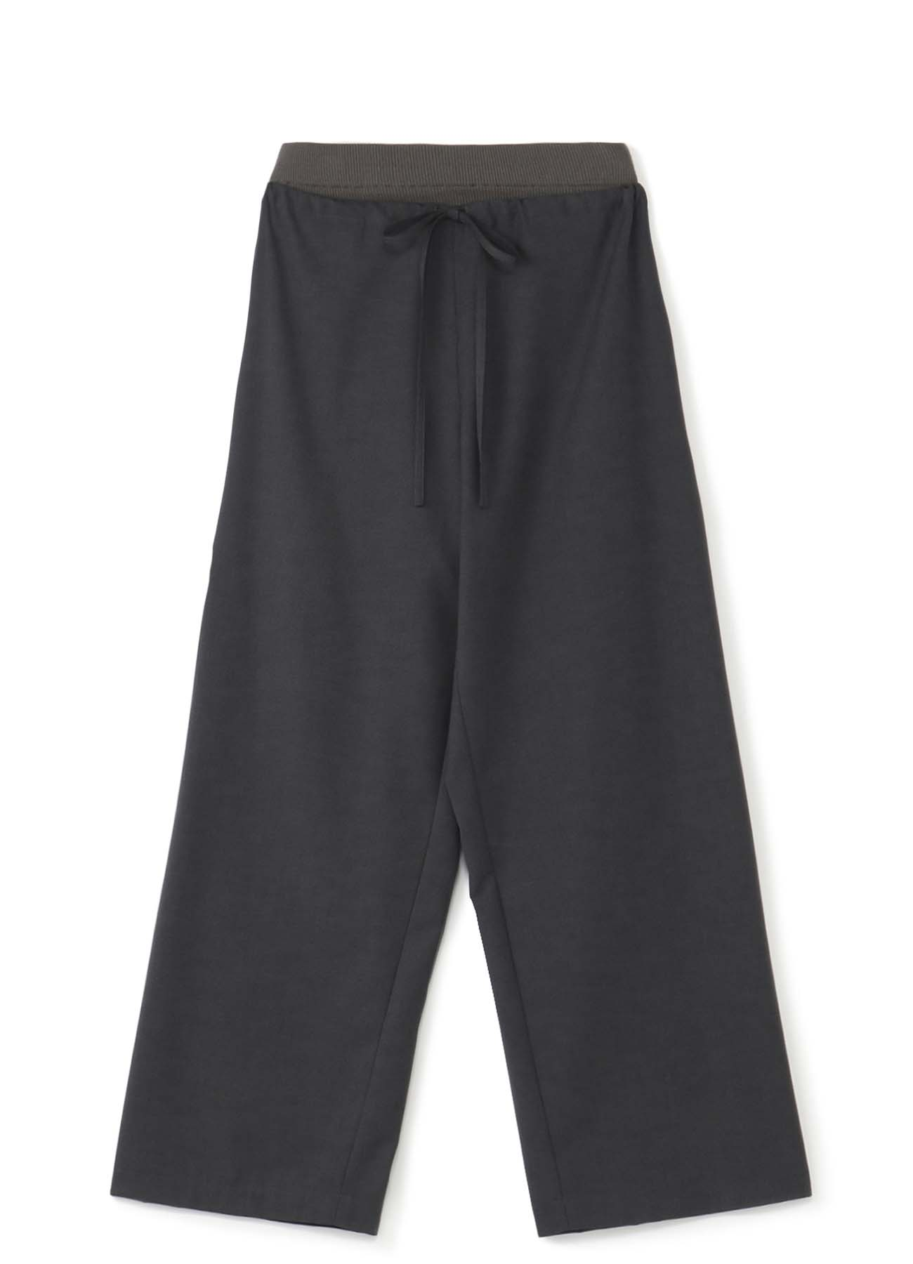 RISMATby Y's涤纶人造丝透明斜纹腰围罗纹宽裤