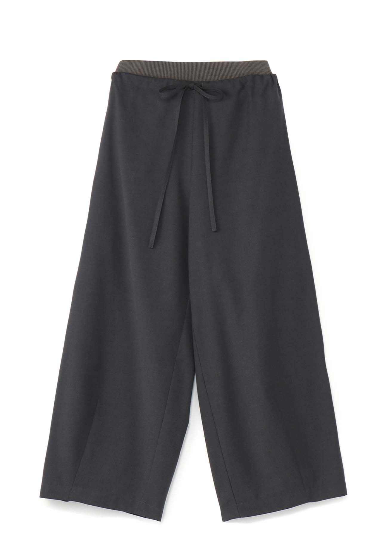 RISMATby Y's聚酯人造丝清楚斜纹腰围裁剪裤与肋