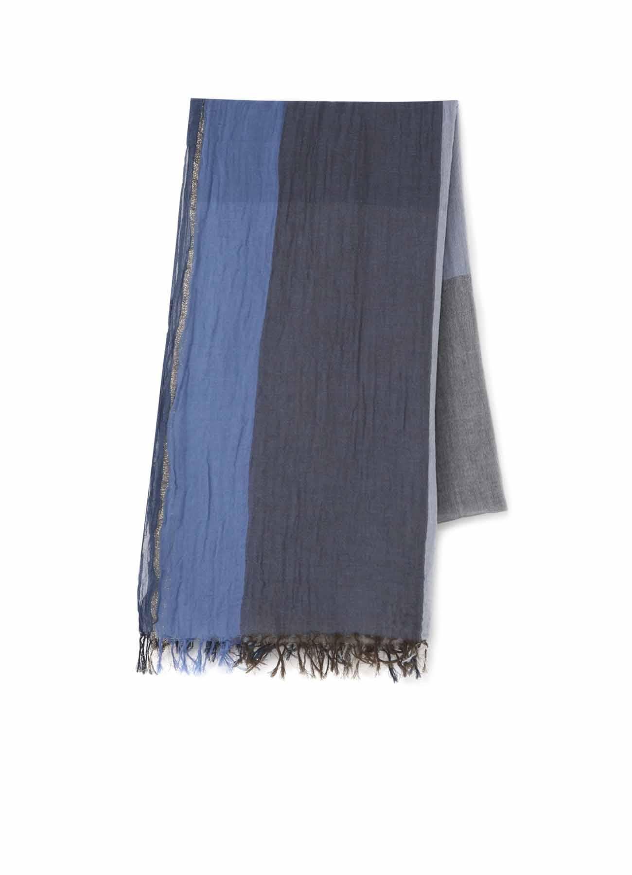 纯棉轻薄三色围巾