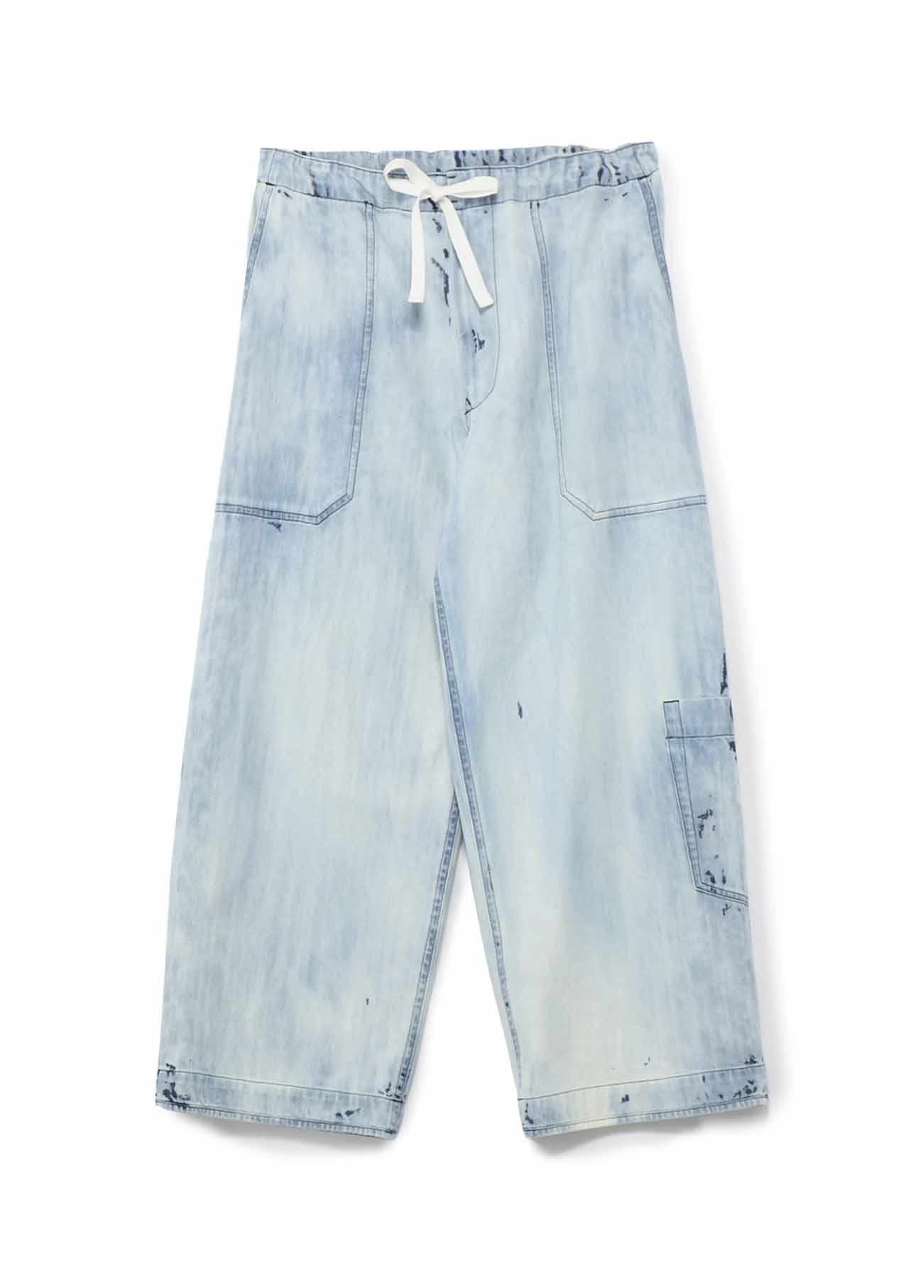 水磨宽松直筒牛仔裤