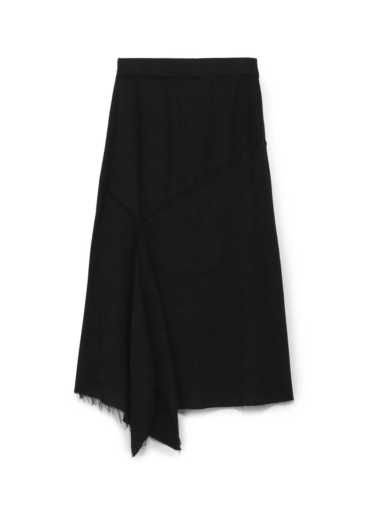 纯棉拼接鱼尾下摆半身裙