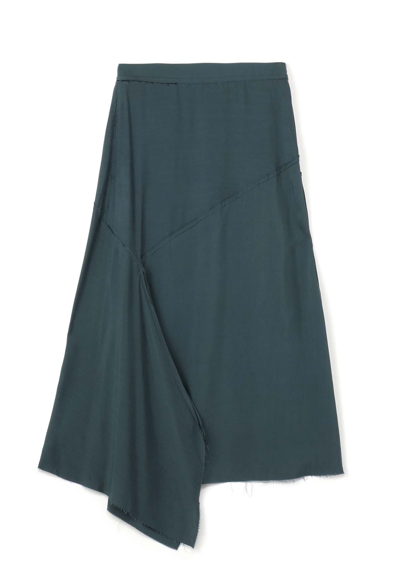 Y'sPINK 人造丝非对称拼接半身裙