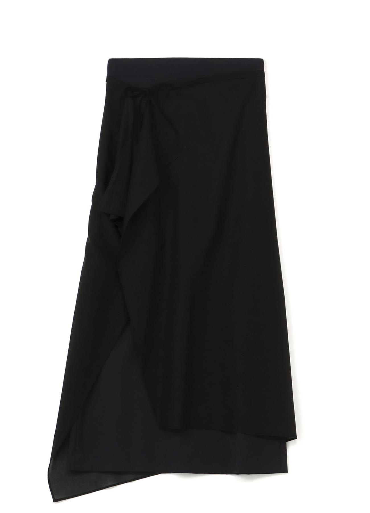 Y'sPINK 夏季羊毛可拆卸卷裹半身裙