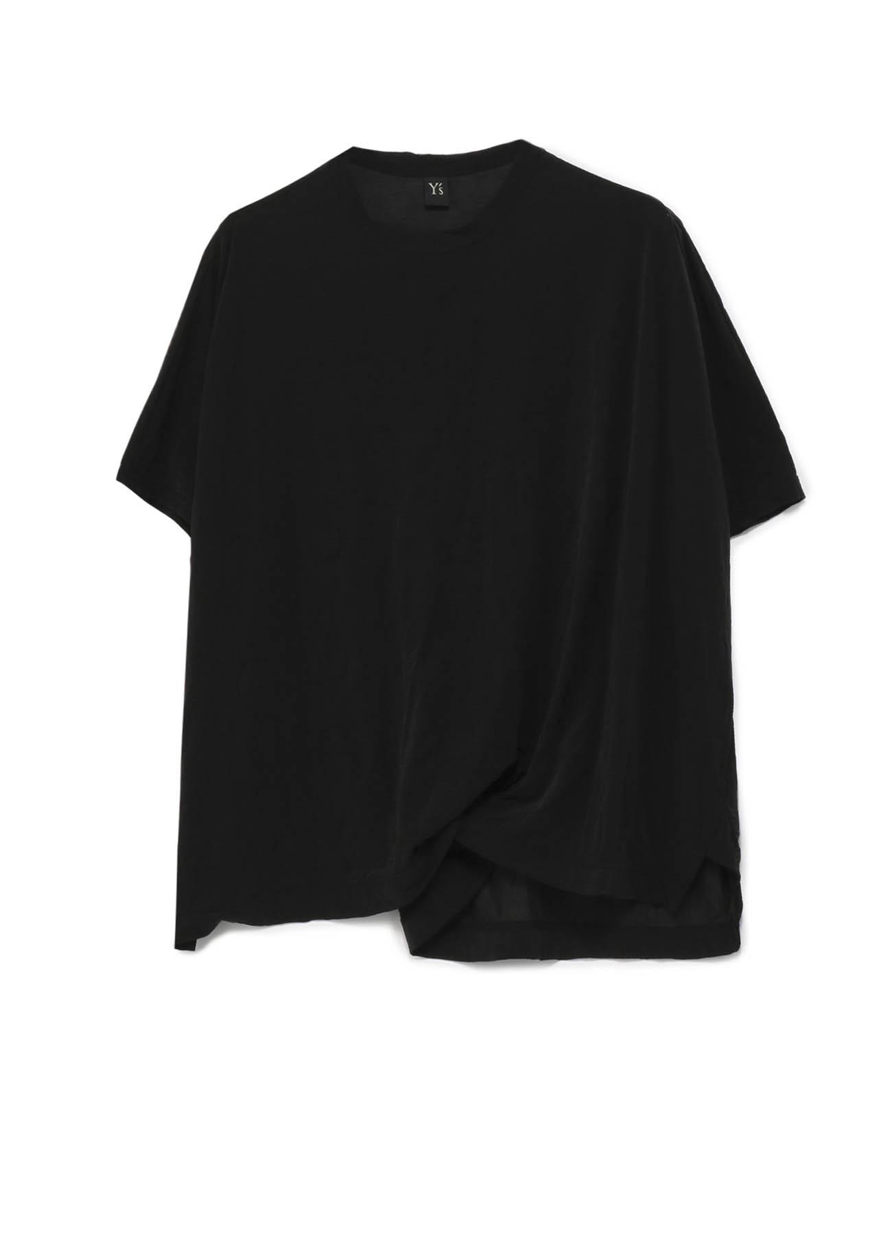 ポリエステル天竺シワ 裾ネジリTシャツ