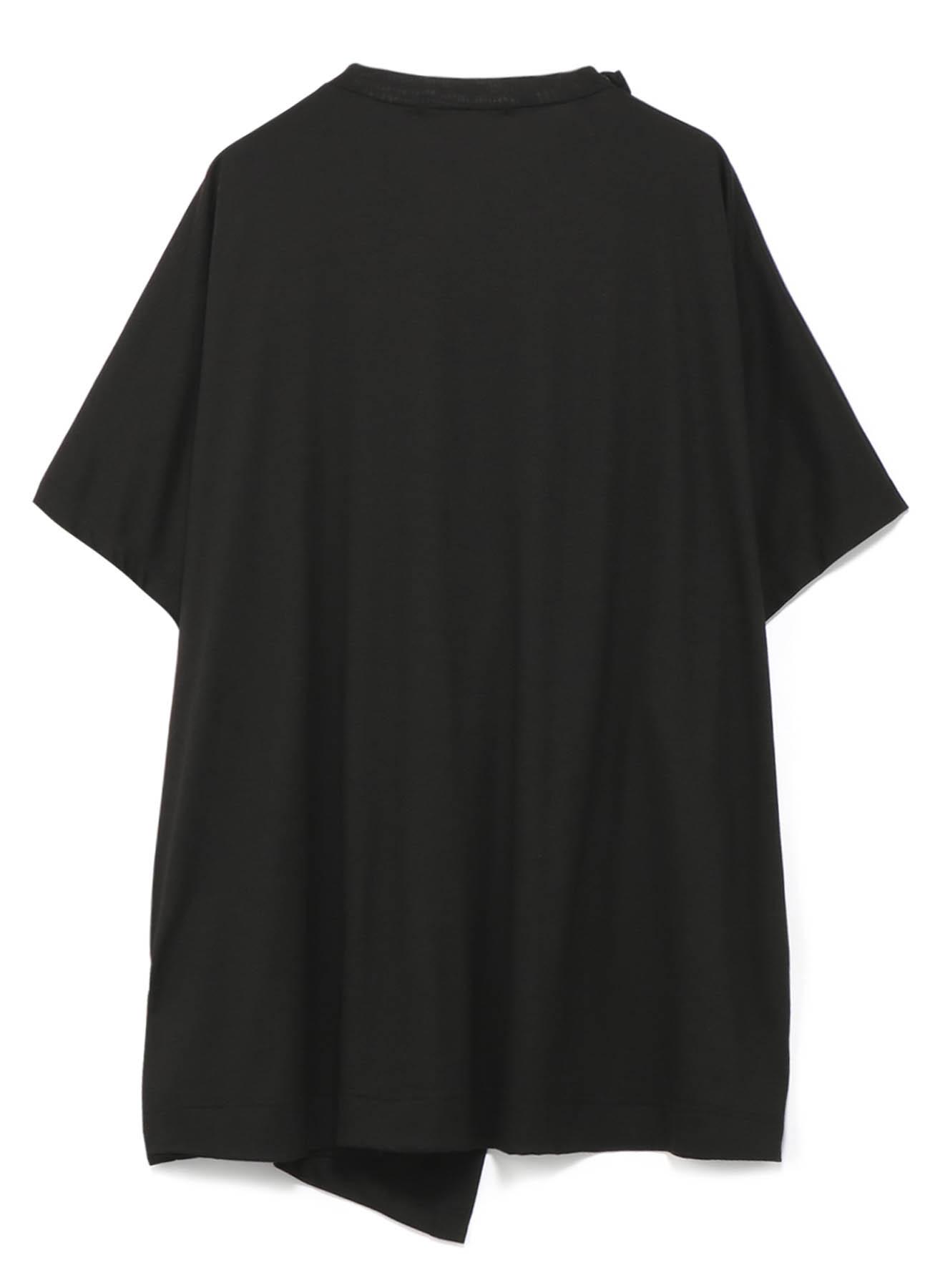 层叠设计不对称设计半袖T恤