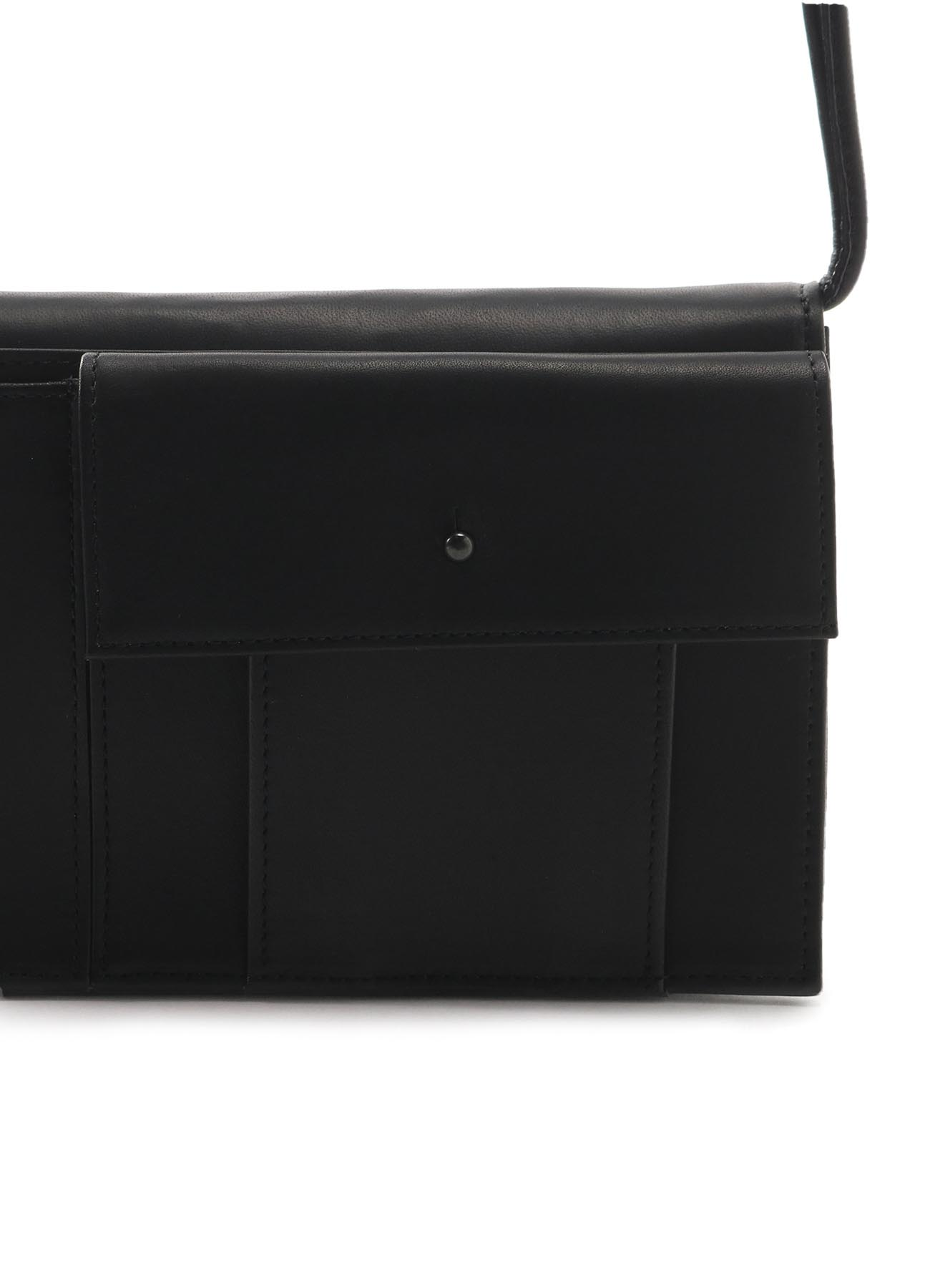 SMOOTH LEATHER FLAP POCHETTE