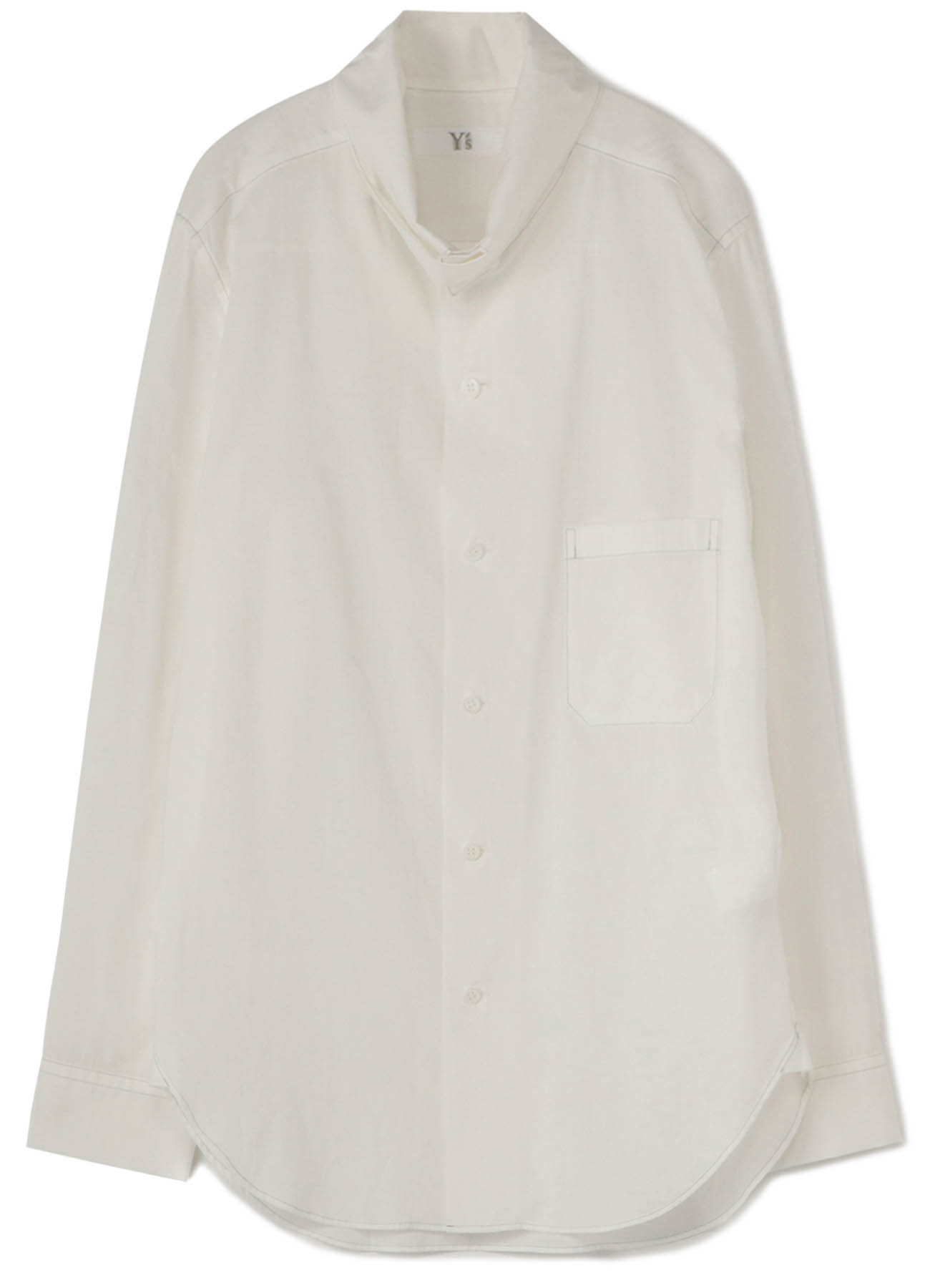 POWDER SNOW WASHER CUTTING OUT COLLAR BLOUSE