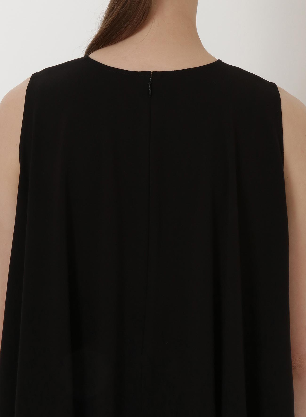 ACETATE POLYESTER GEORGETTE FLARE BLOUSE