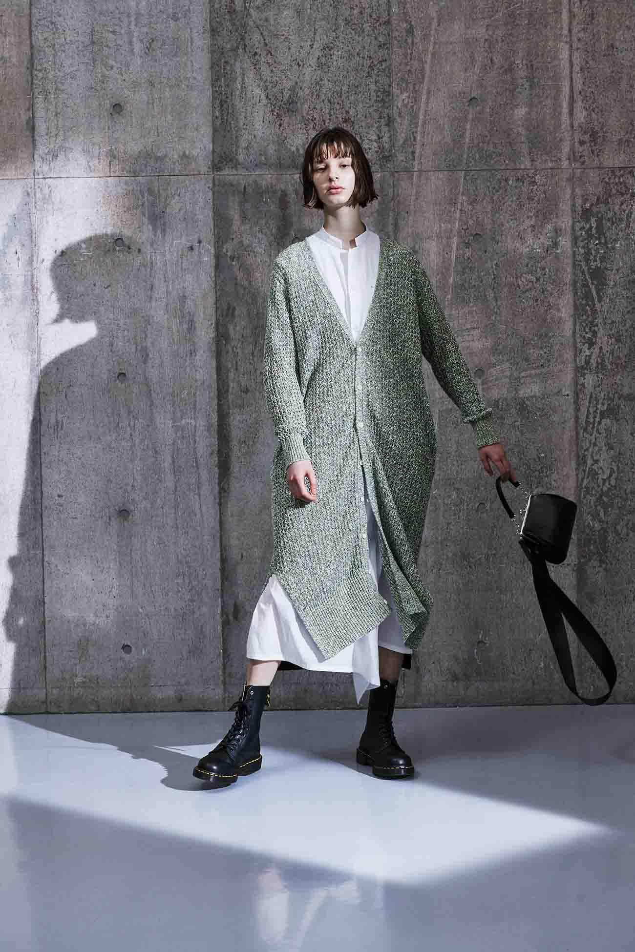 POWDER SNOW WASHER HALF SLEEVE BOX SHIRT DRESS