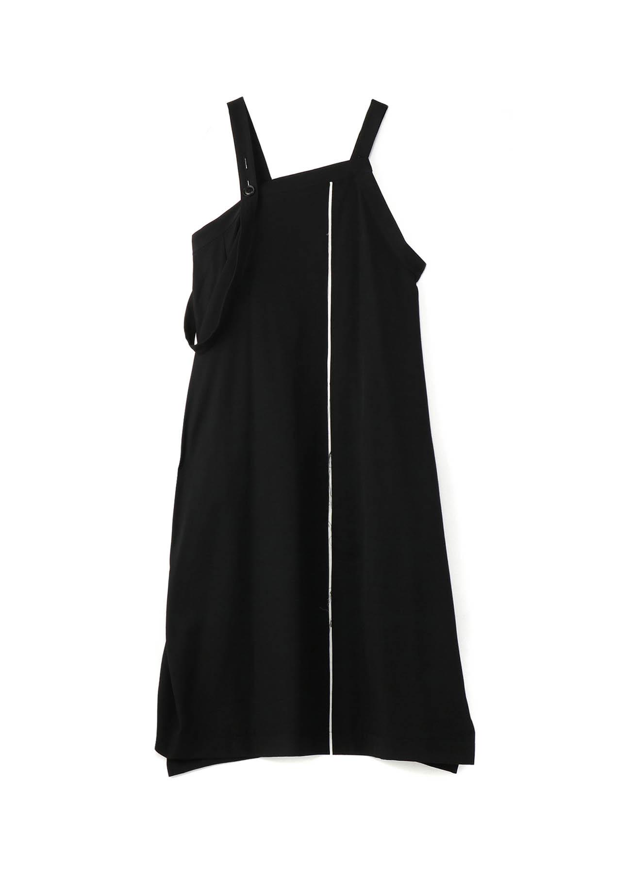 WOOL GABARDINE APRON BELT DRESS