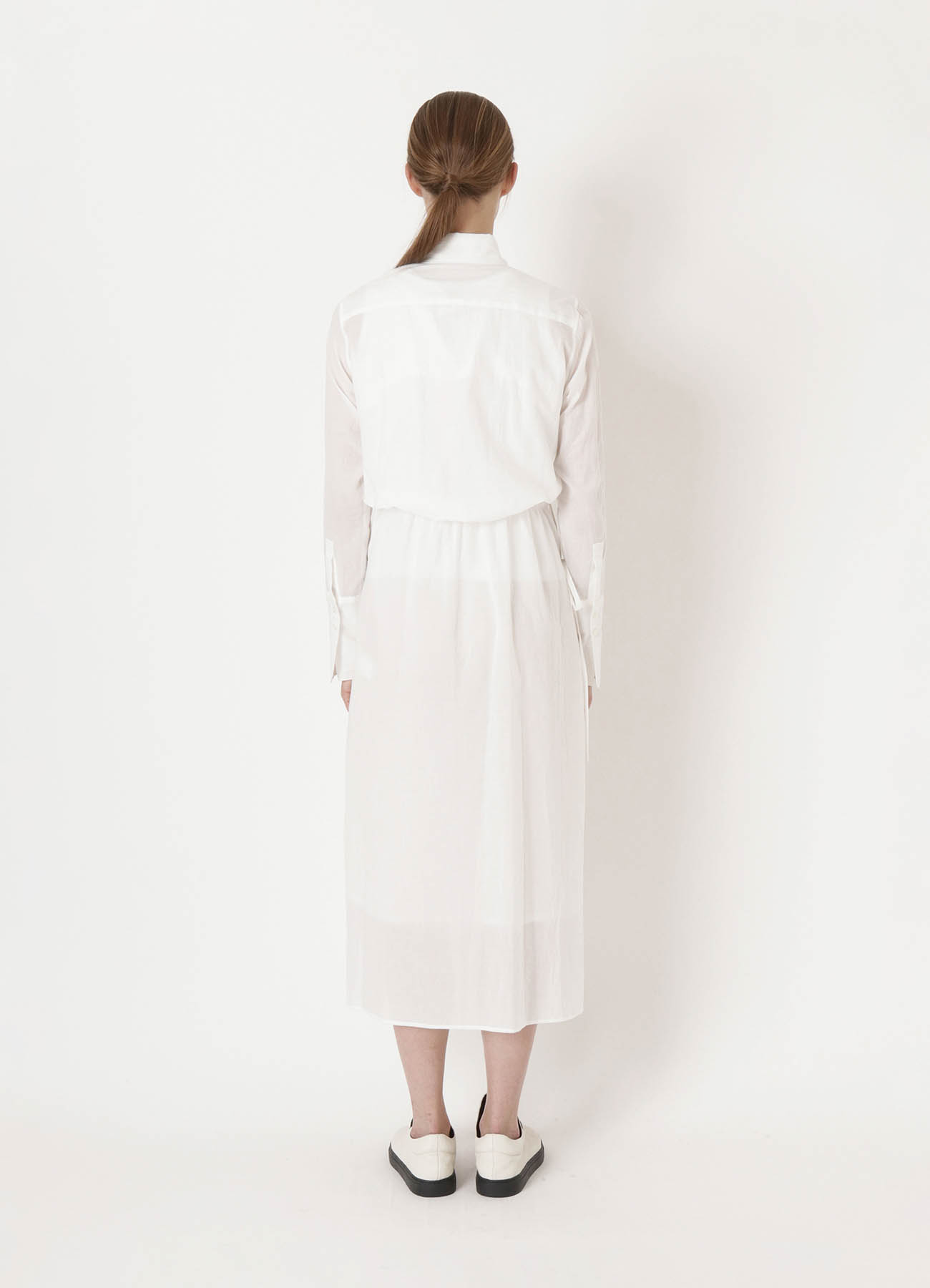 COTTON LAWN DOUBLE LAYERED DRESS