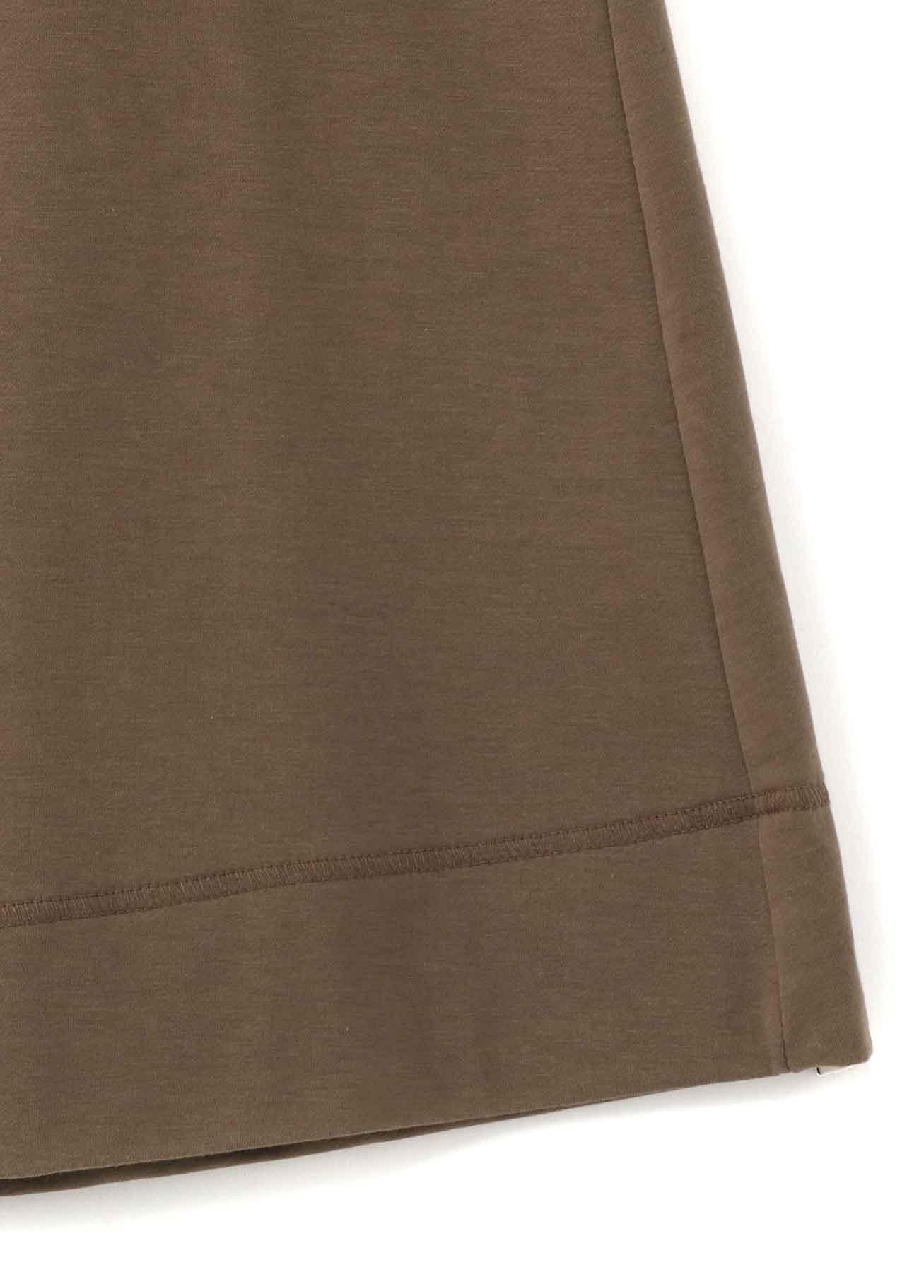 RISMATbyY's COTTON SUVIN GIZA FLEECE W BELT DESIGN WIDE PANTS