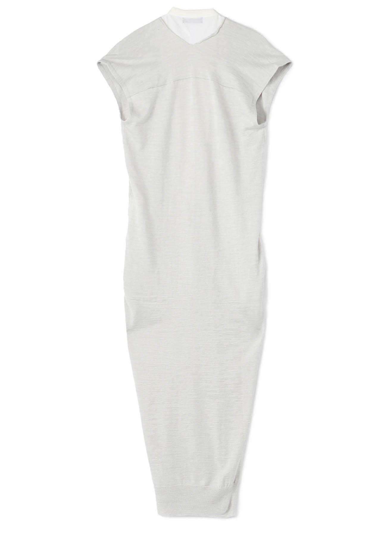 2/34Ry/Ny/Li12G1P PLAIN STITCH LAYER STYLE NO SLEEVE DRESS
