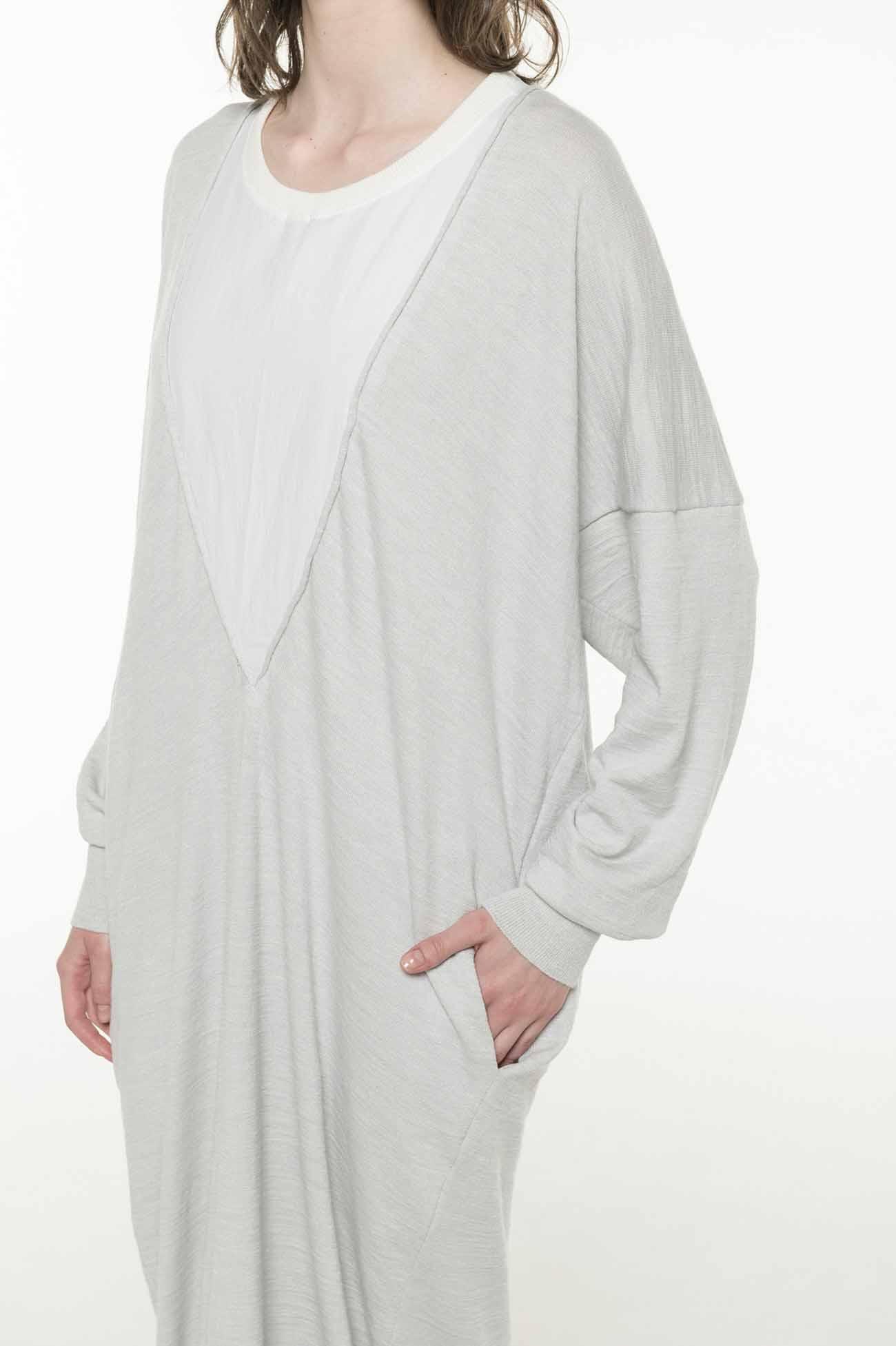 2/34Ry/Ny/Li12G1P PLAIN STITCH LAYER STYLE LONG SLEEVE DRESS