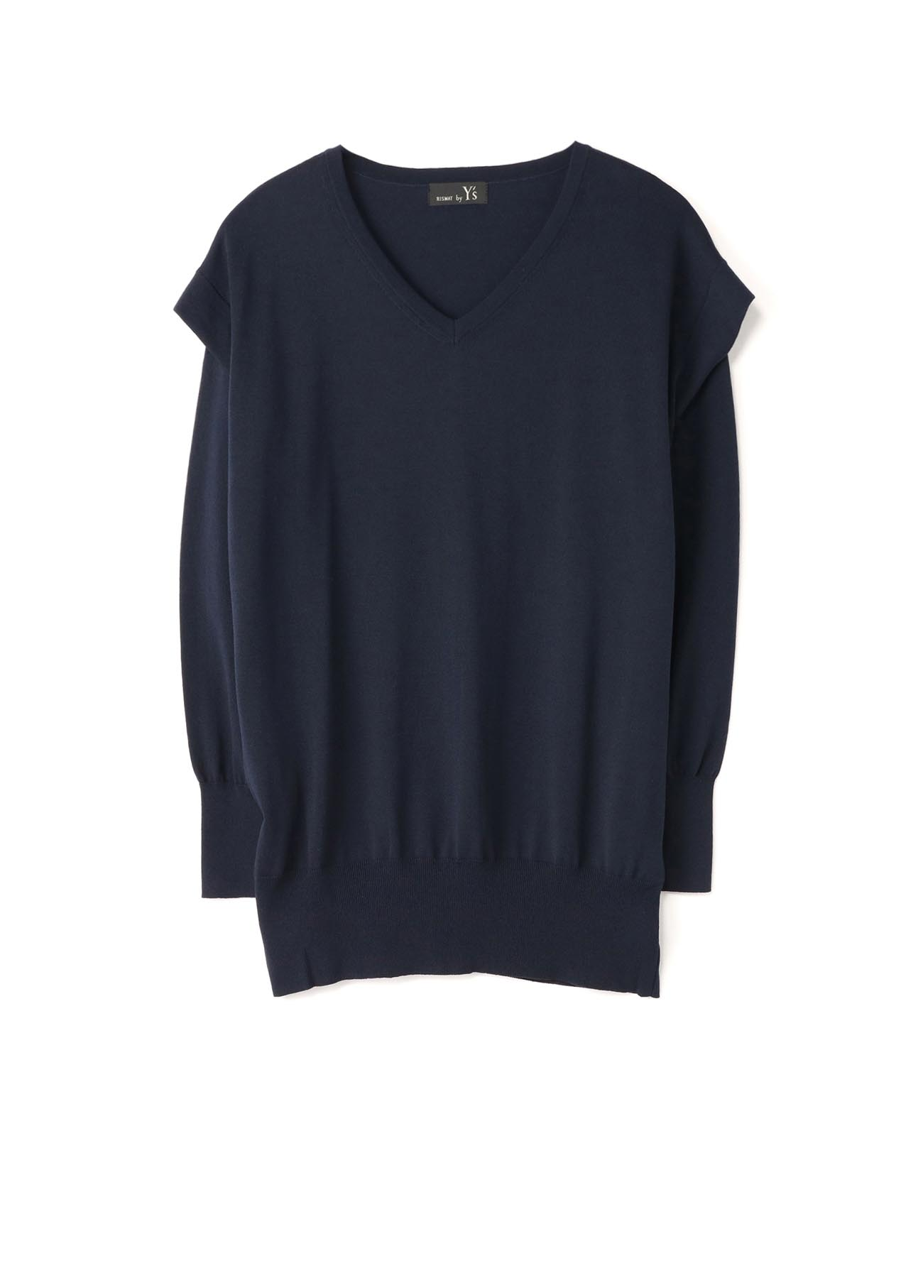PLAIN STITCH ARMHOLE OPEN SHT SLEEVE PULLOVER
