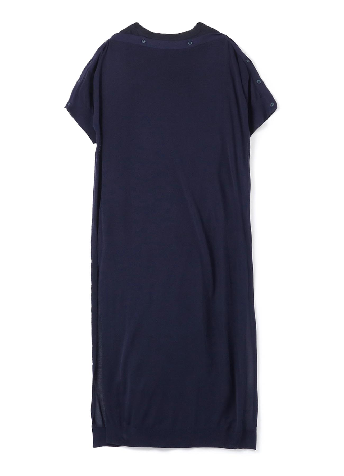 1/52Ry/Ny14G2P PLAIN STITCH BUTTON OPEN SLEEVE DRESS