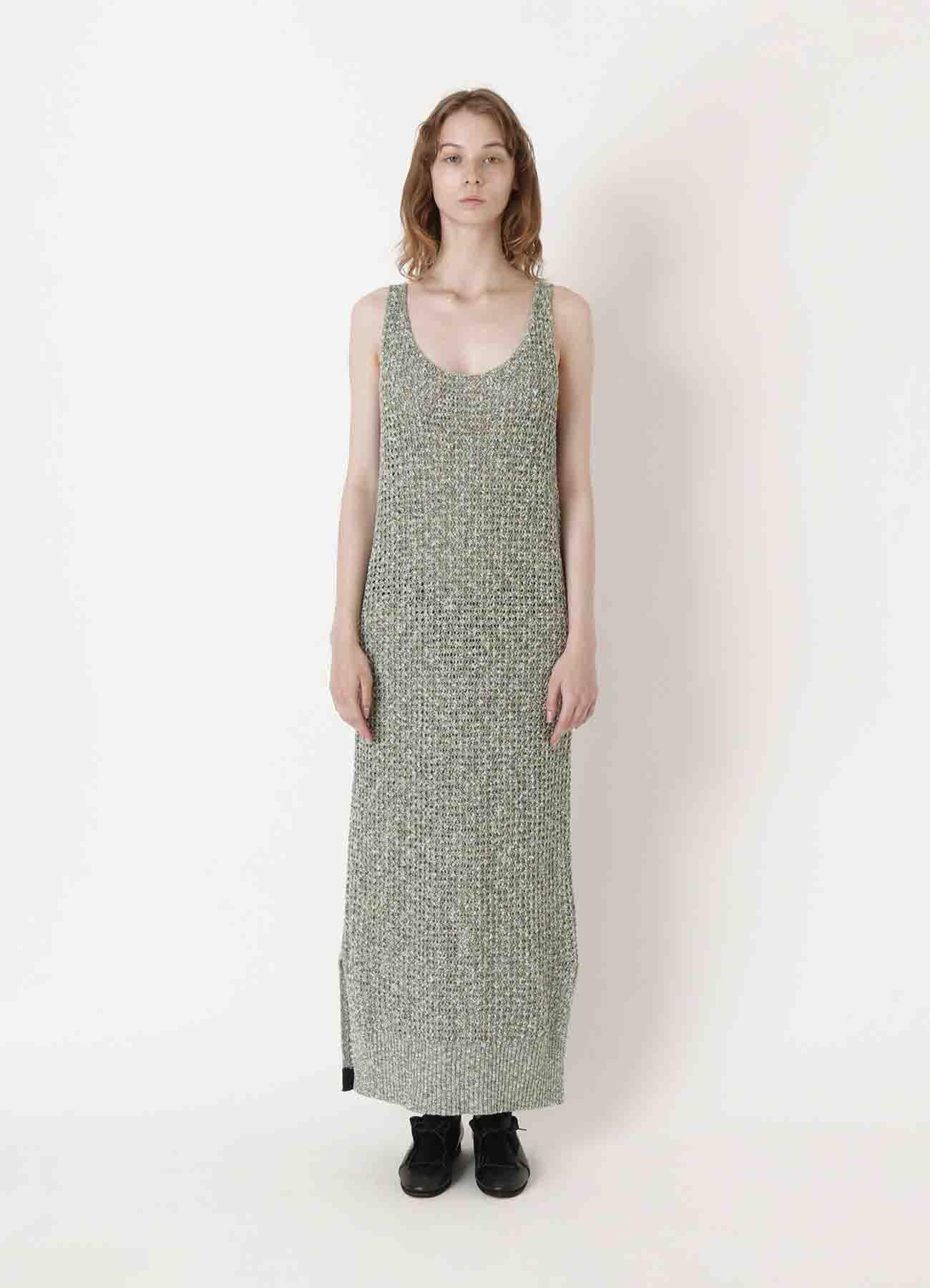 RISMATbyY's RIB COLOURED SLEEVE LESS DRESS