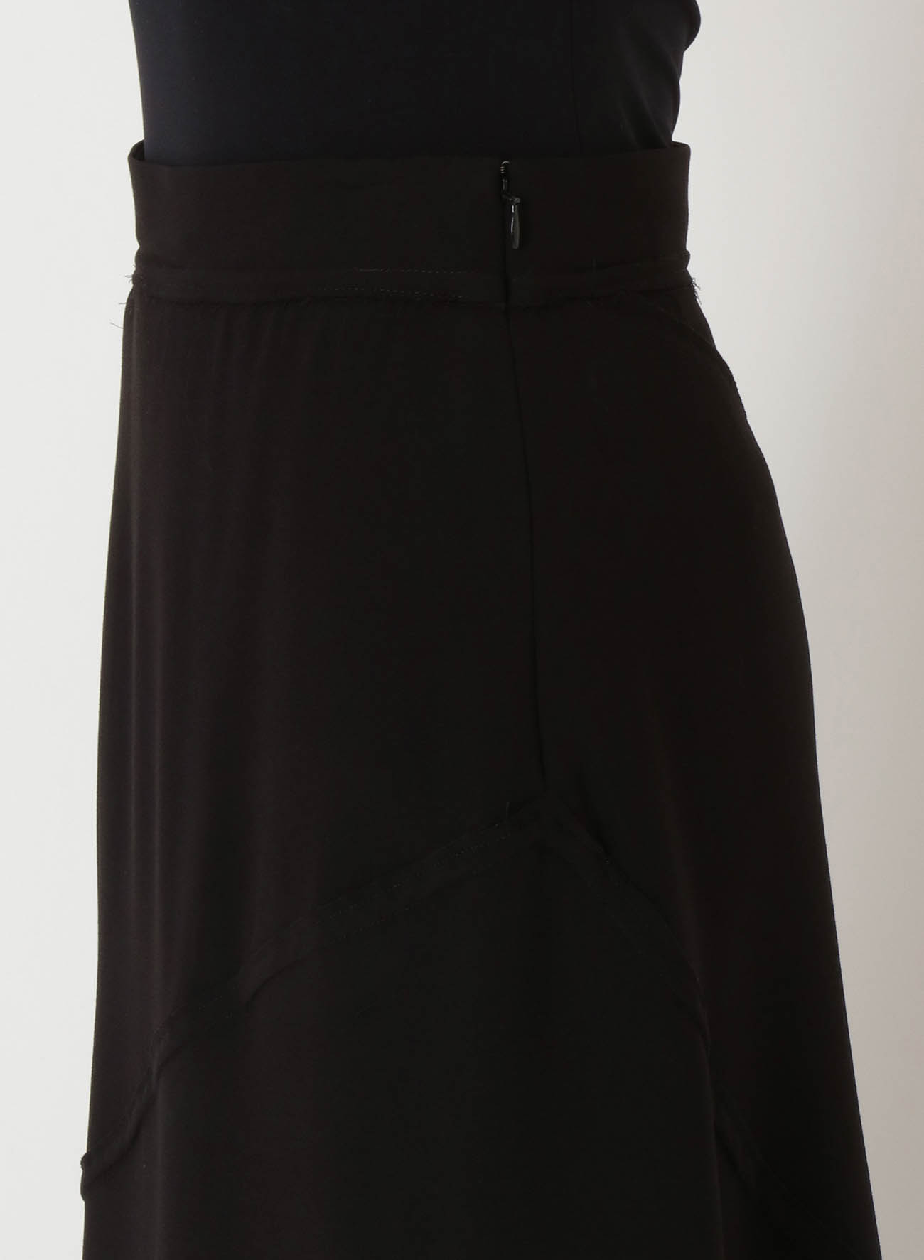 ACETATE POLYESTER GEORGETTE FLARE SKIRT