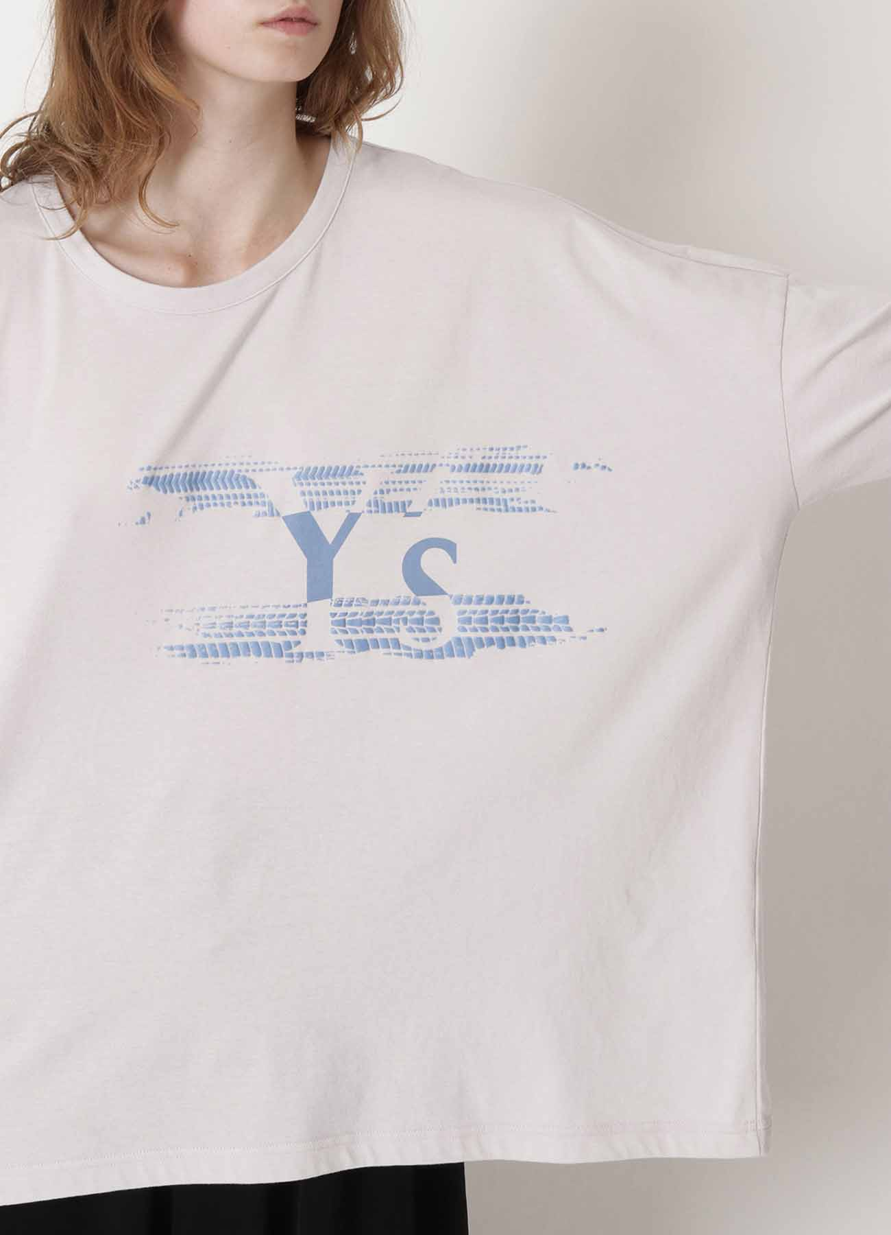 Y's TIRE PIGMENT PRINT BIG T-SHIRT