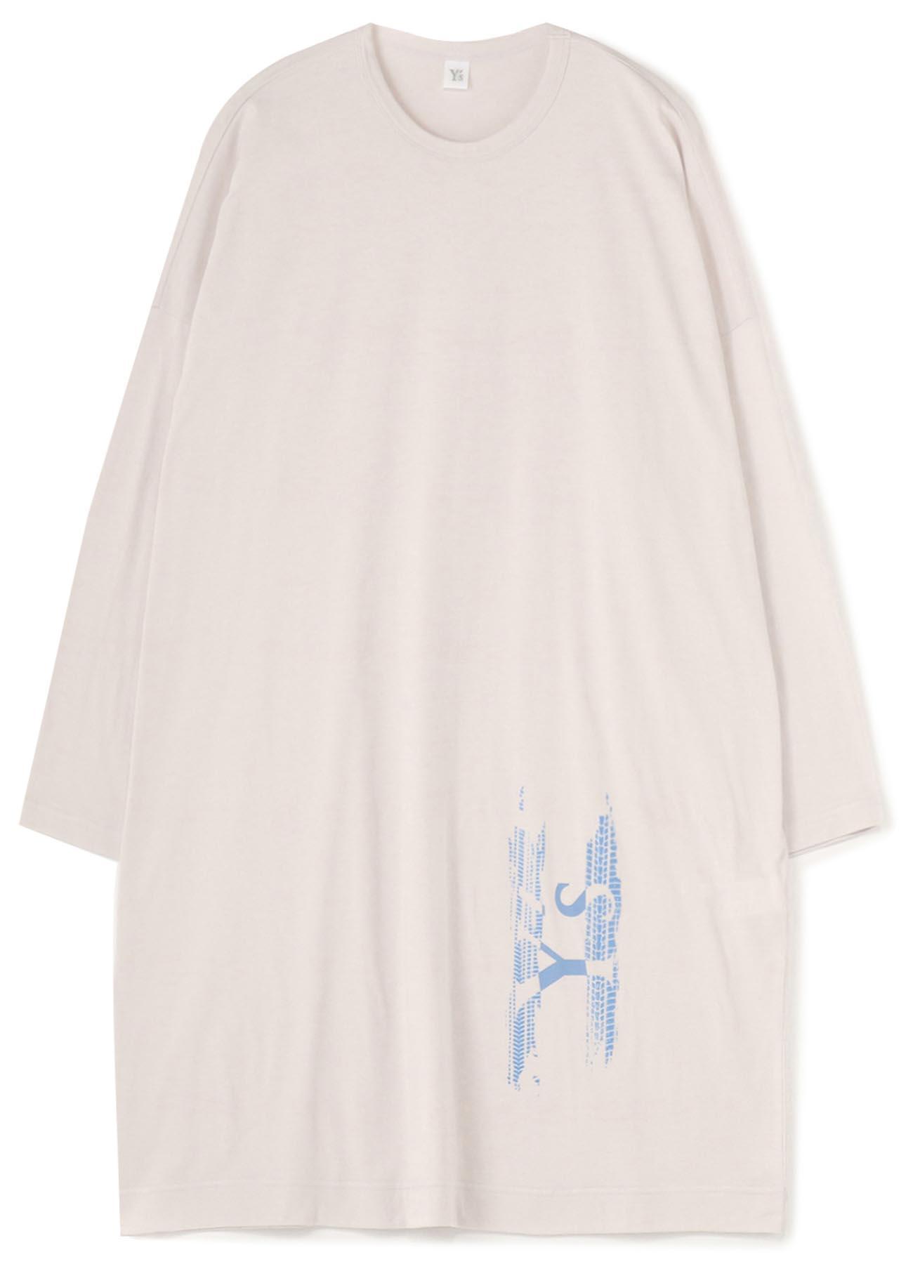 Y's TIRE PIGMENT PRINT BIG LONG SLEEVE DRESS
