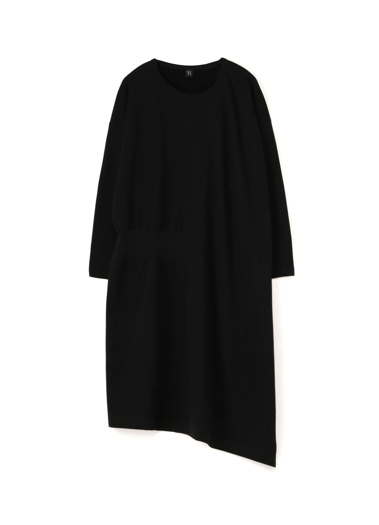 COTTON FLEECE VERITCAL PATCH DRESS