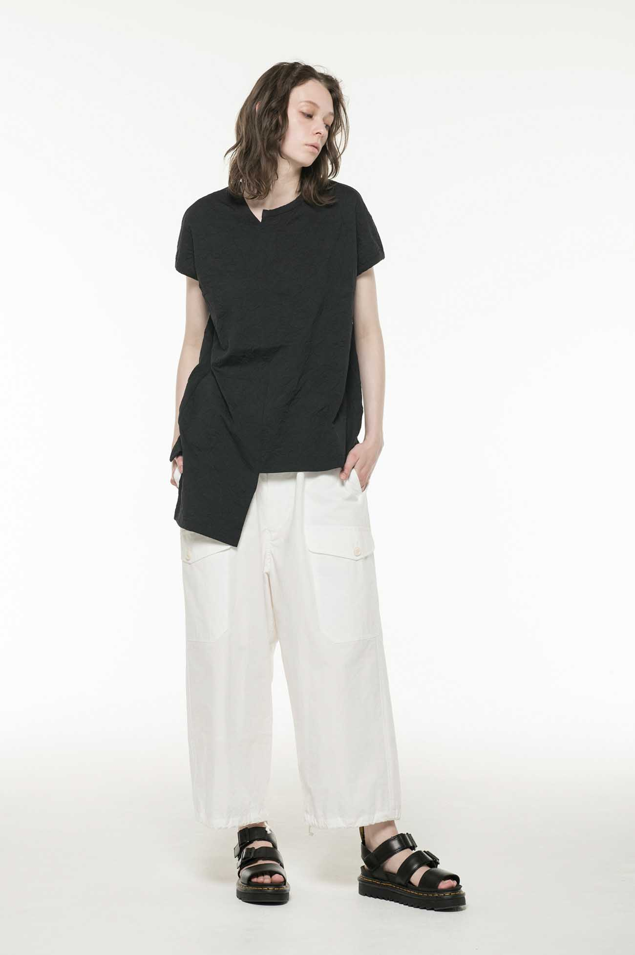 75dx60/-COTTON WRINKLE ASYMME FRENCH ST