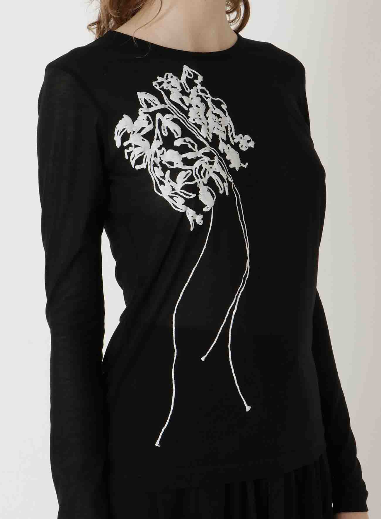 80/2STRONG TWISTsZ EMBROIDERY EMBROIDERY RN LONG SLEEVE T