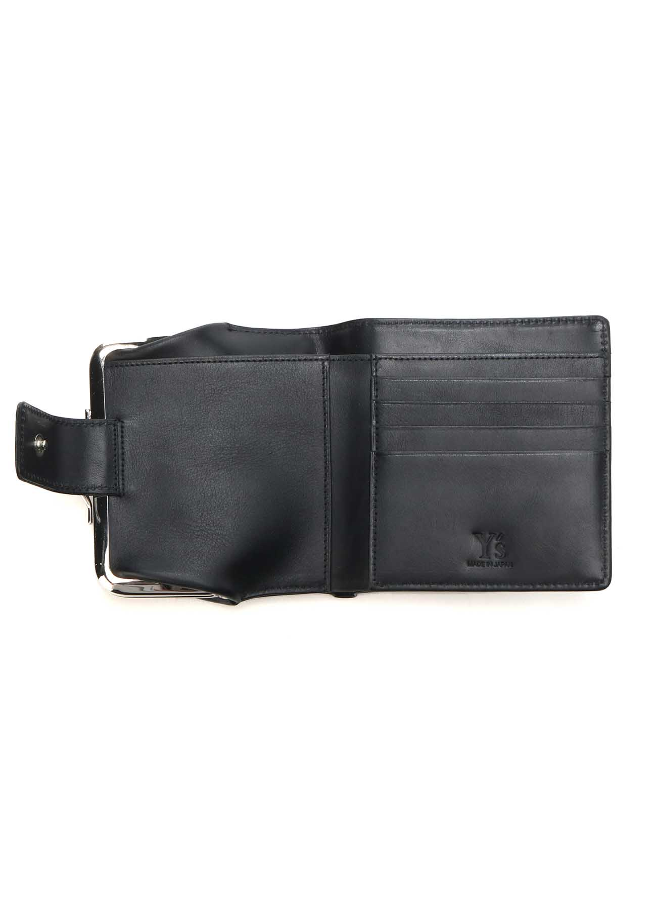 SEMI GLOSS LEATHER CLASP WALLET SMALL