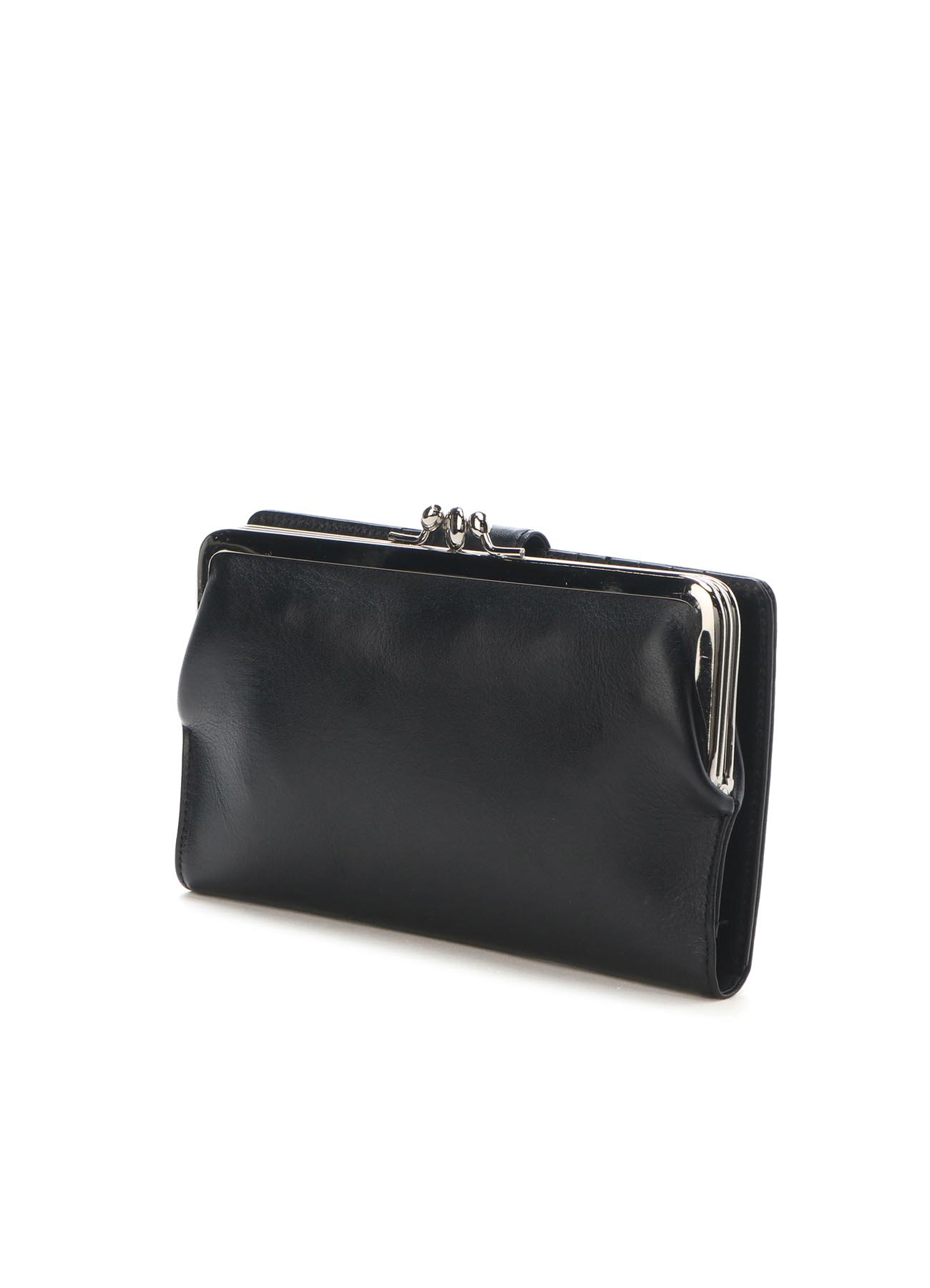 SEMI GLOSS LEATHER CLASP LONG WALLET