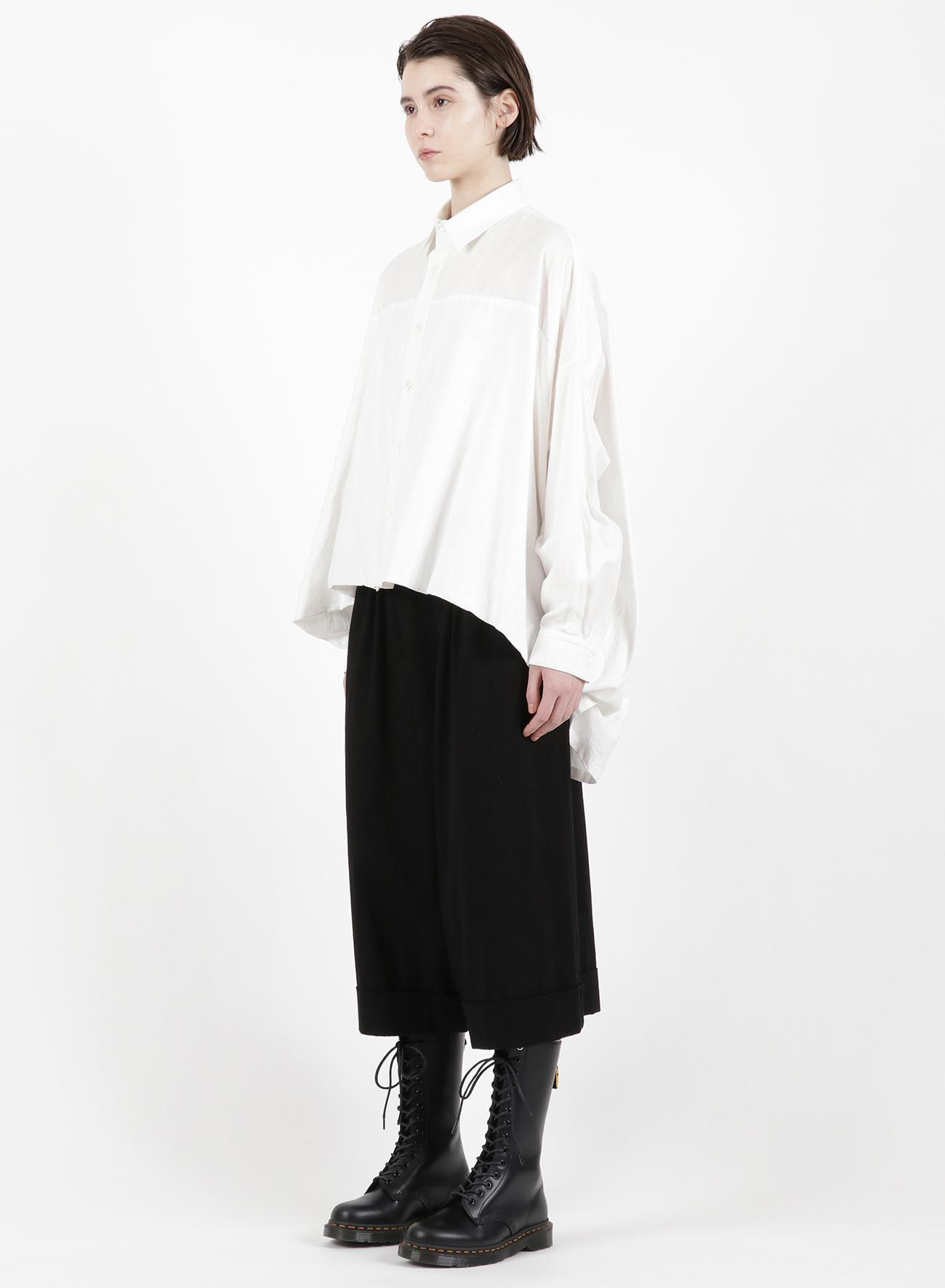 TWILL FRONT DOUBLE BIG BLOUSE
