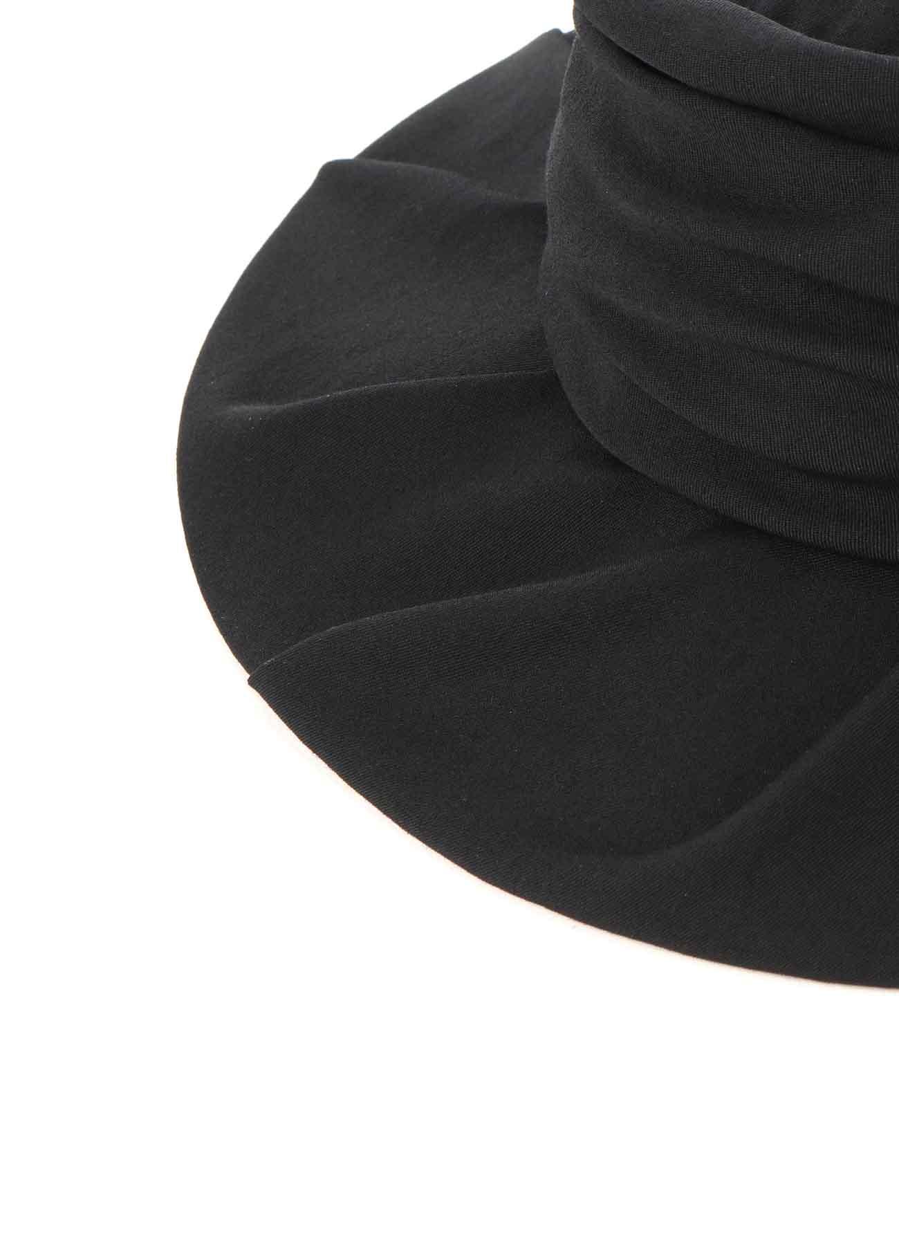 WOOL GABARDINE DRAPE HAT