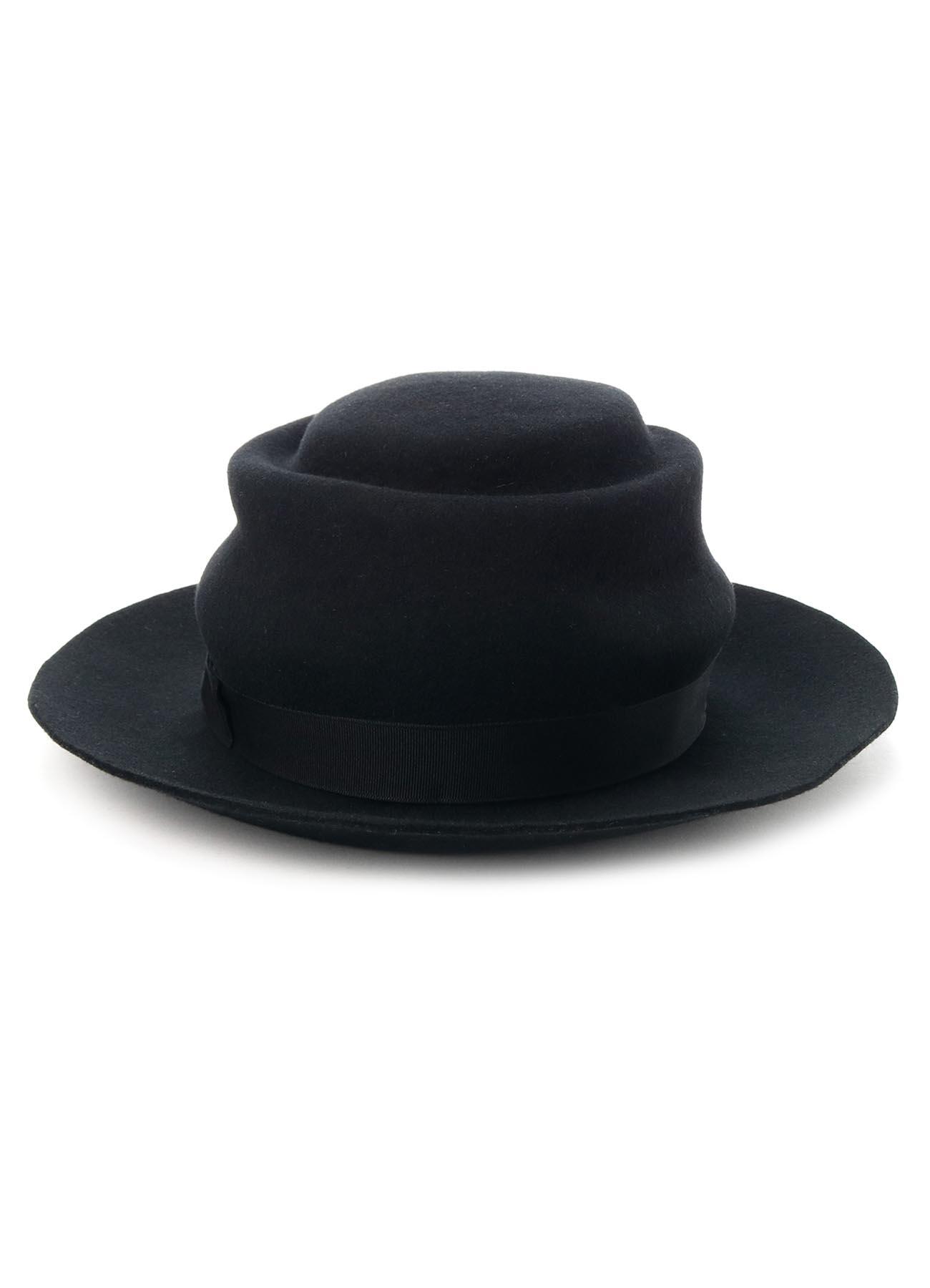 WOOL HAT BODY CRUMPLED WOOL HAT